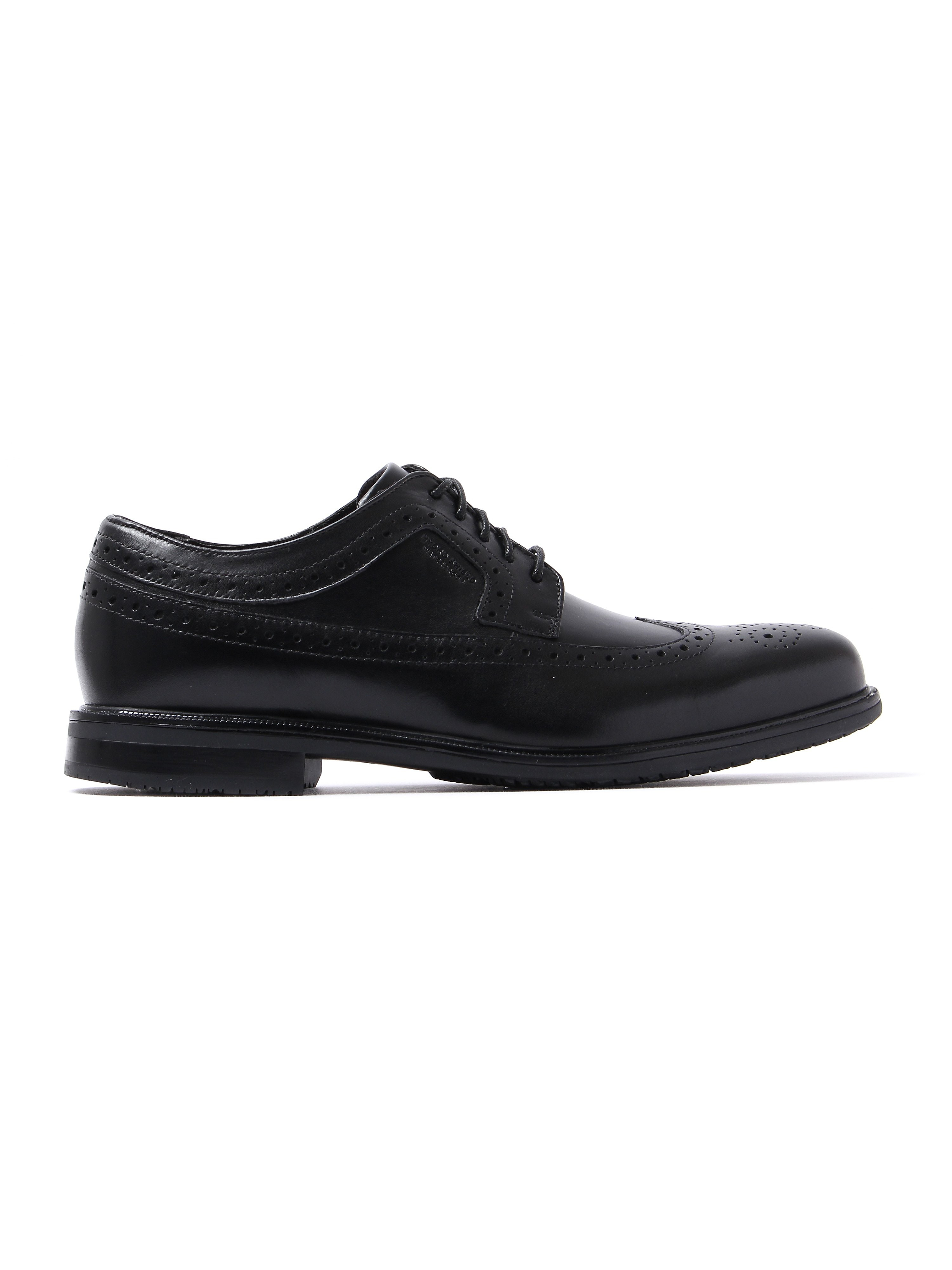Rockport Men's Essential Detail II Wing Tip Leather Brogues - Black