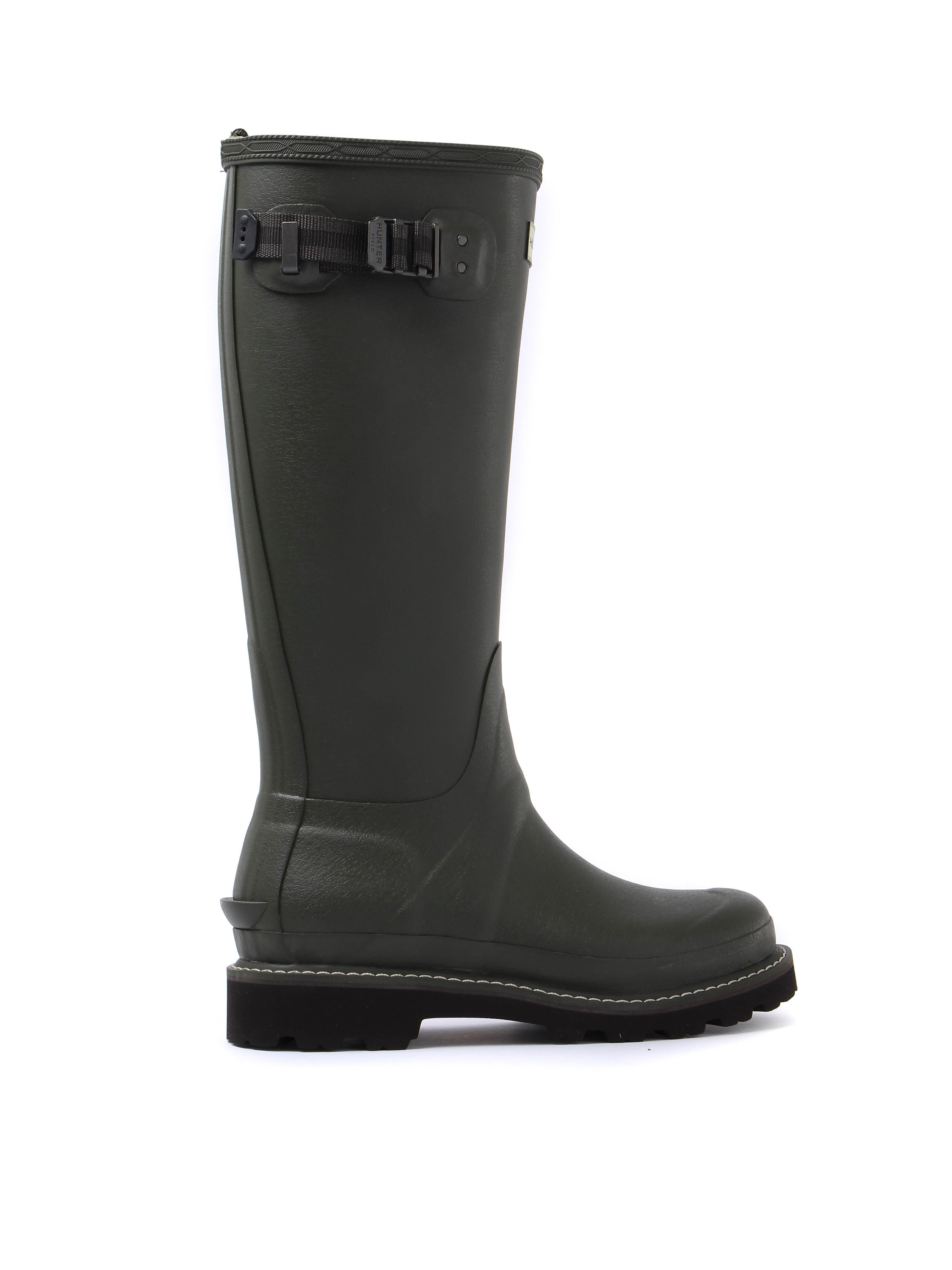 Hunter Wellies Women's Balmoral II Poly Lining Wellington Boots - Dark Olive