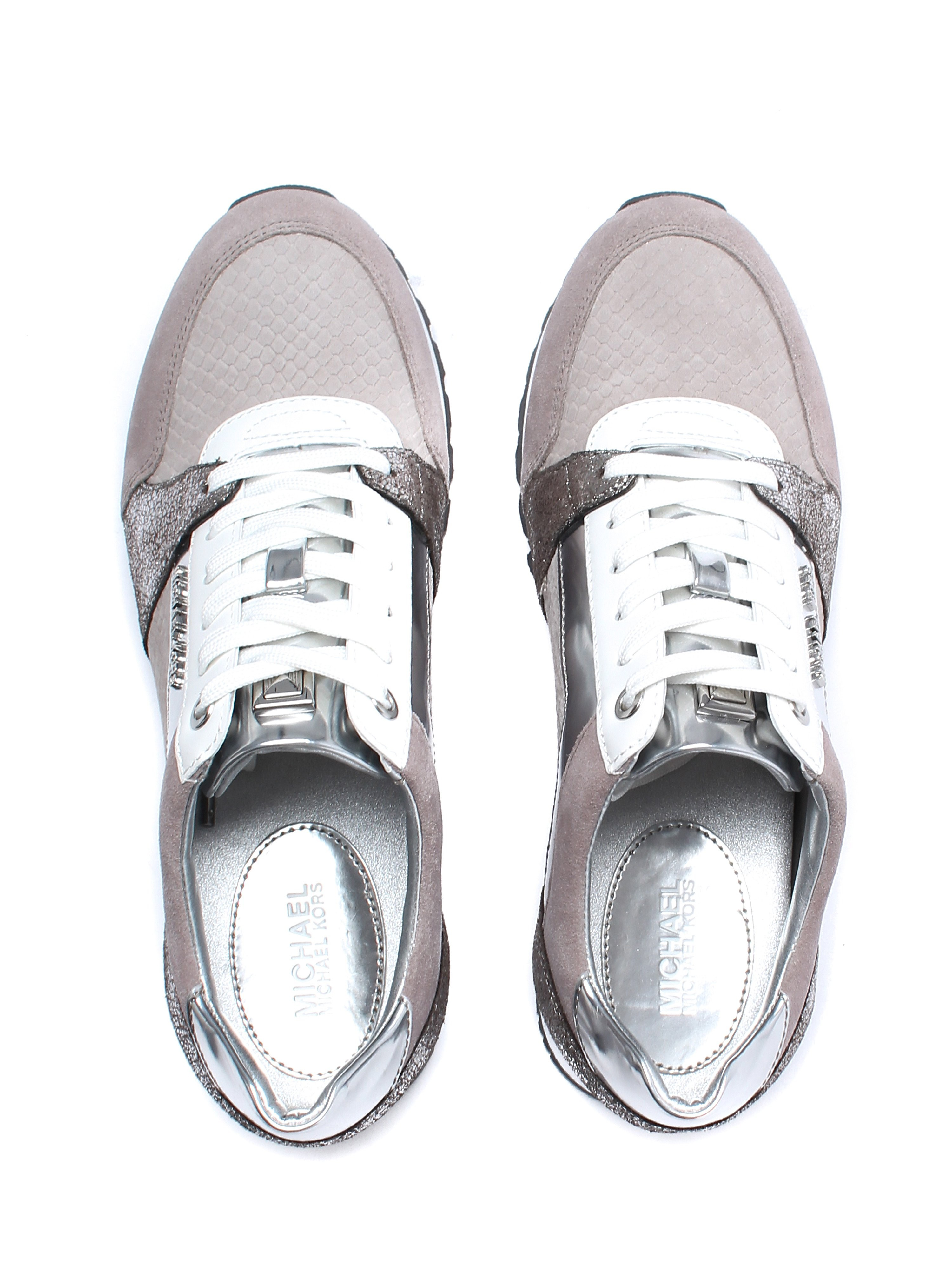 Michael Michael Kors Women's Billie Trainers - Pearl Grey/Silver