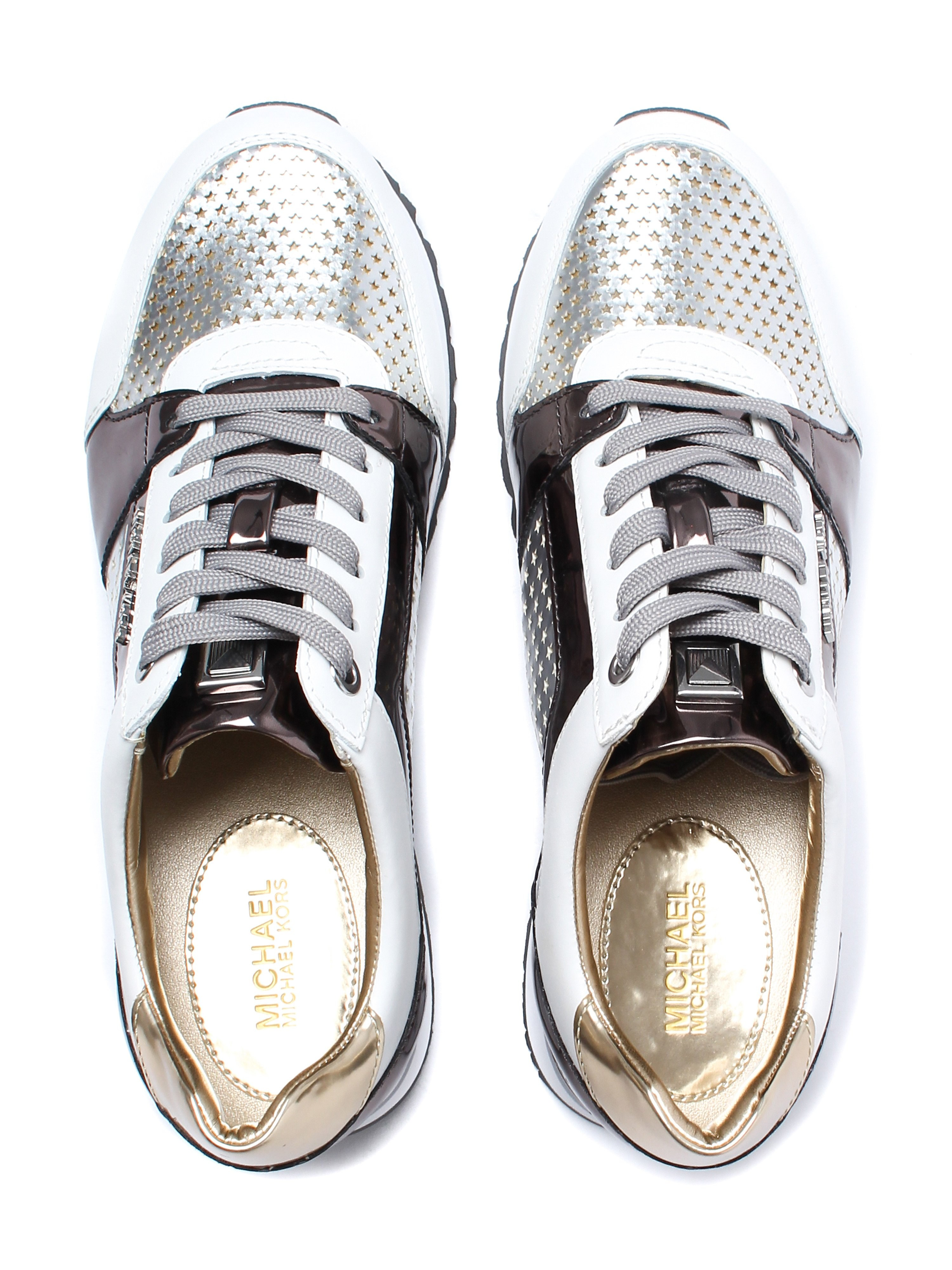 Michael Michael Kors Women's Billie Trainers - Silver/Optic White