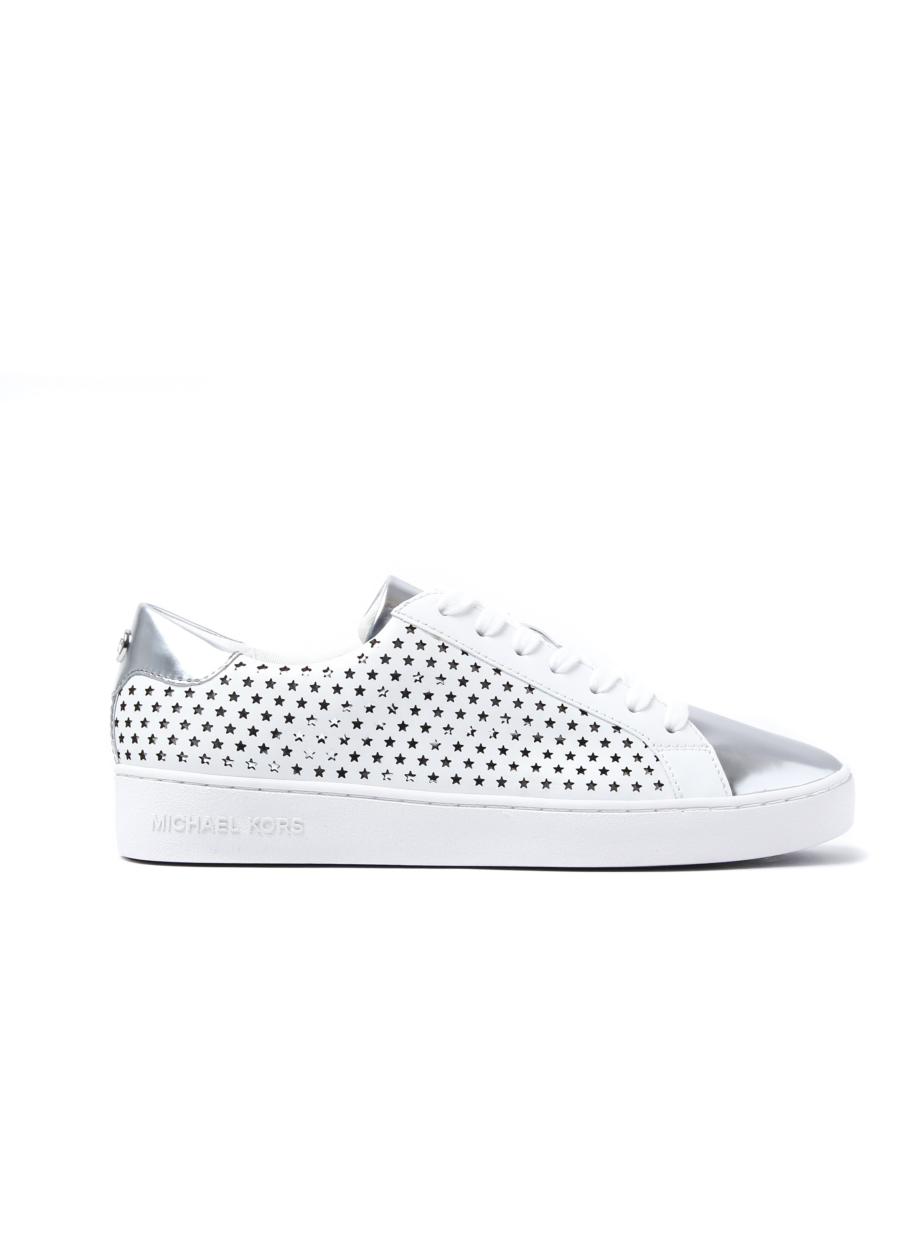Michael Michael Kors Women's Irving Lace-Up Trainers - Optic White Leather