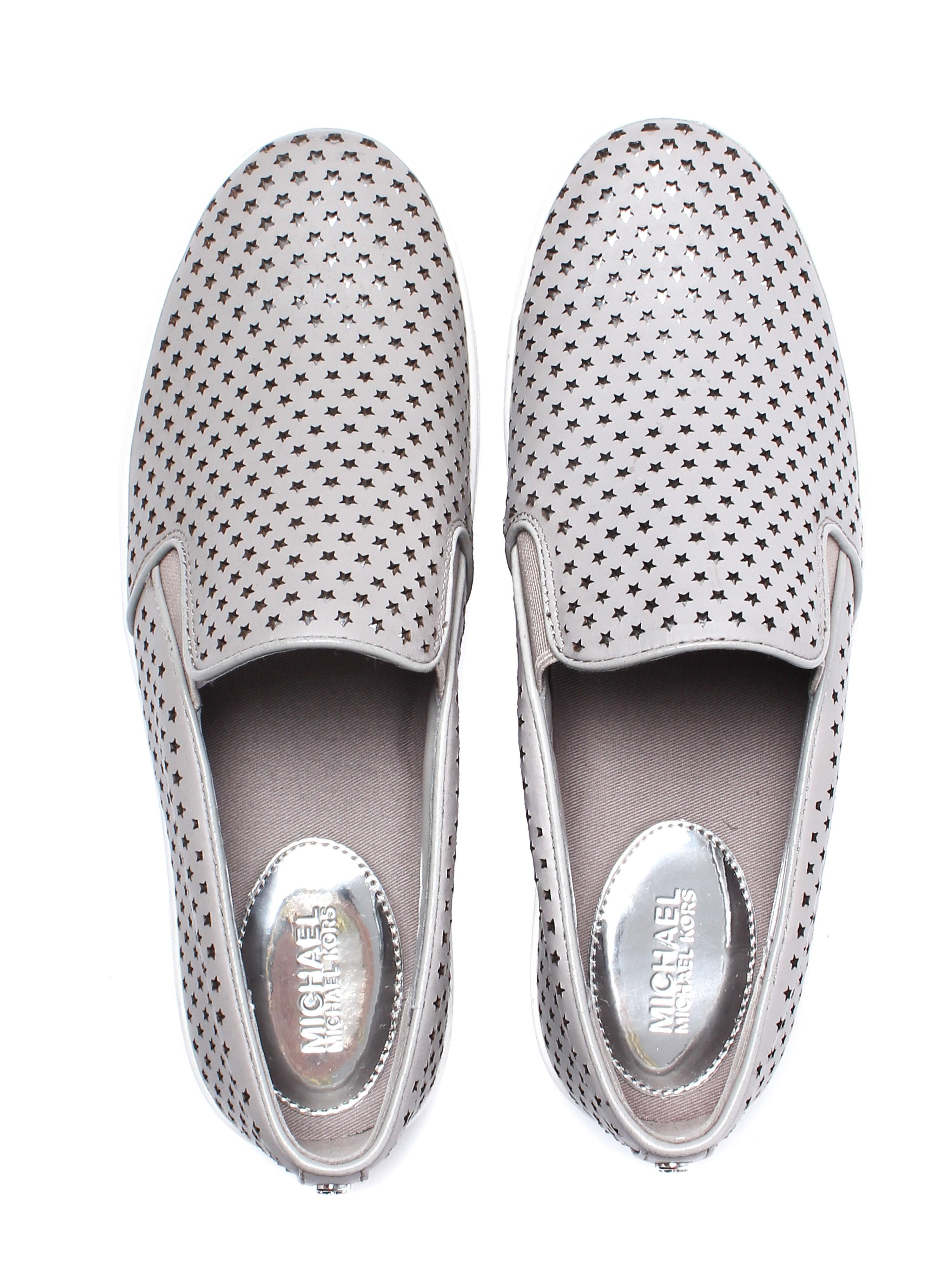 Michael Michael Kors Women's Keaton Slip On Trainers - Pearl Grey Leather