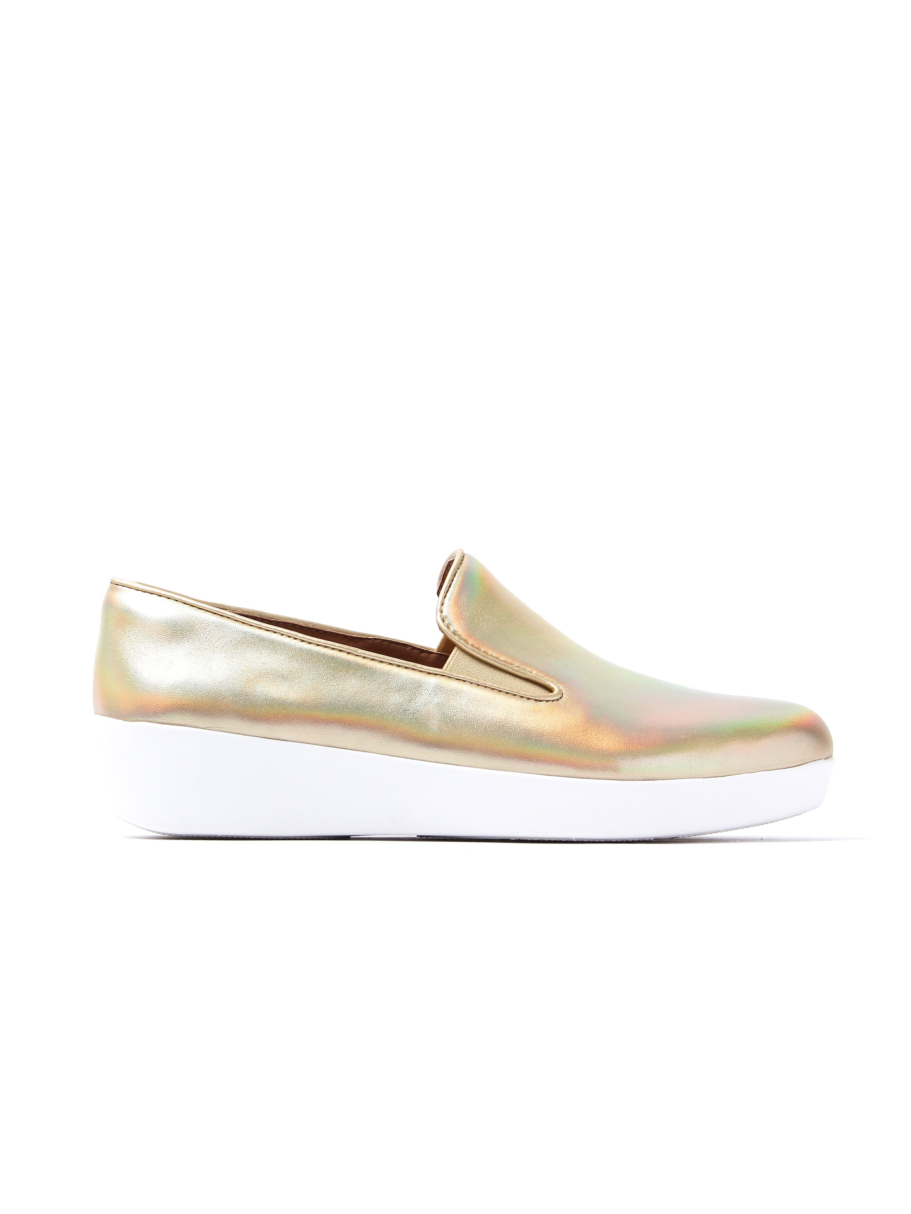 FitFlop Women's Superskate Loafers - Gold Iridescent