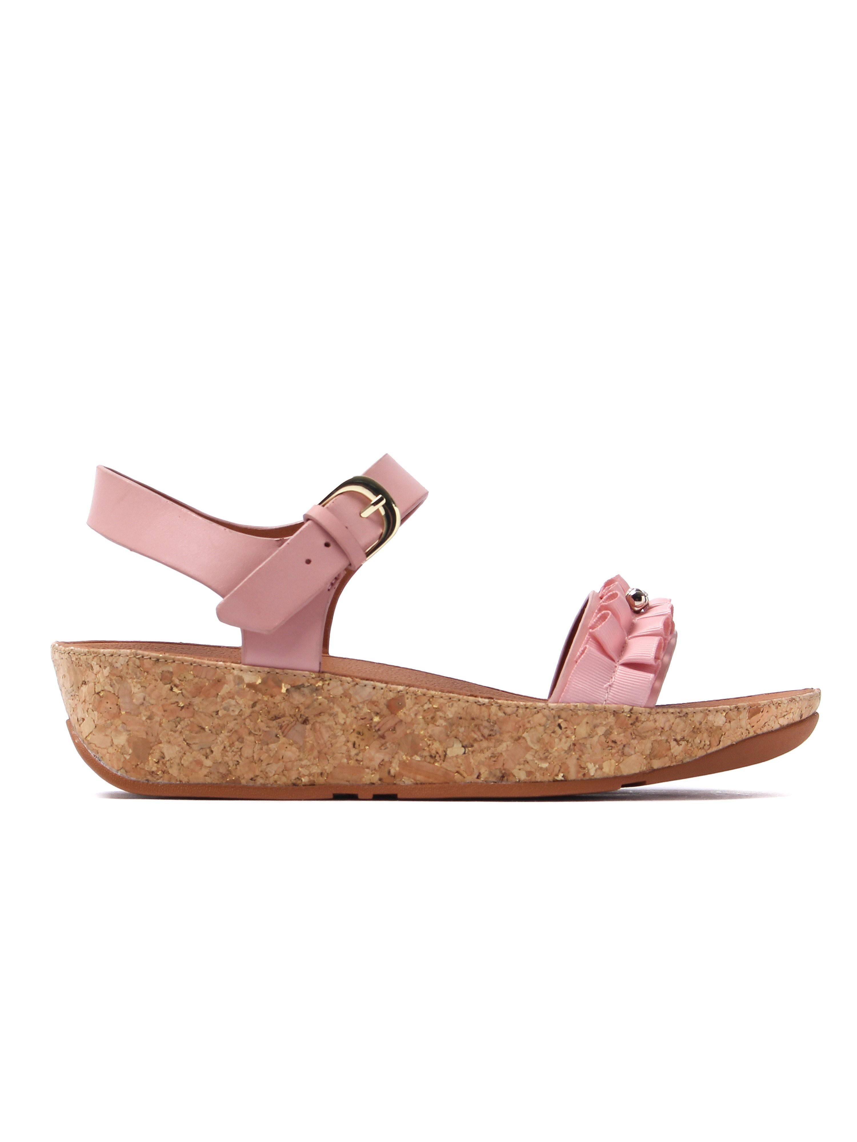 FitFlop Women's Ruffle Back-Strap Sandals - Dusky Pink