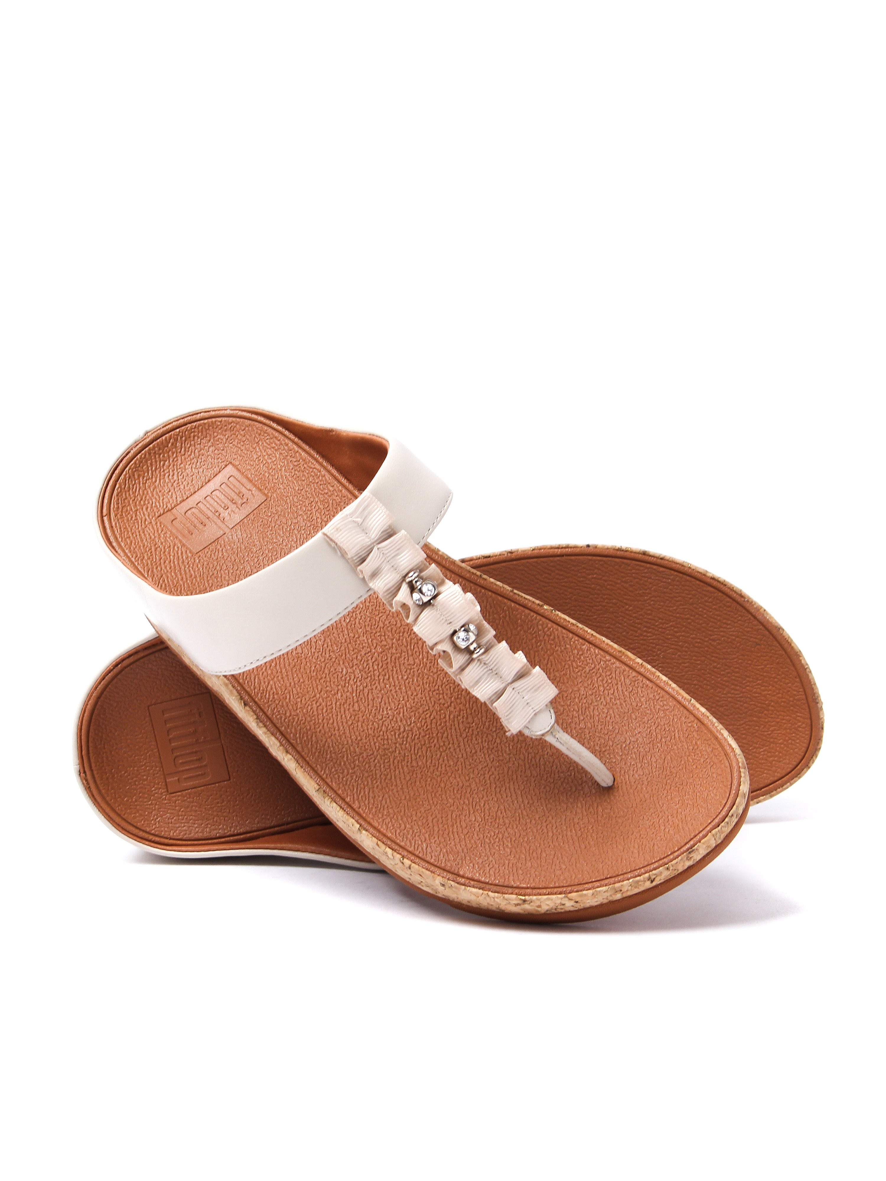 FitFlop Women's Ruffle Toe-Thong Sandals - Cream