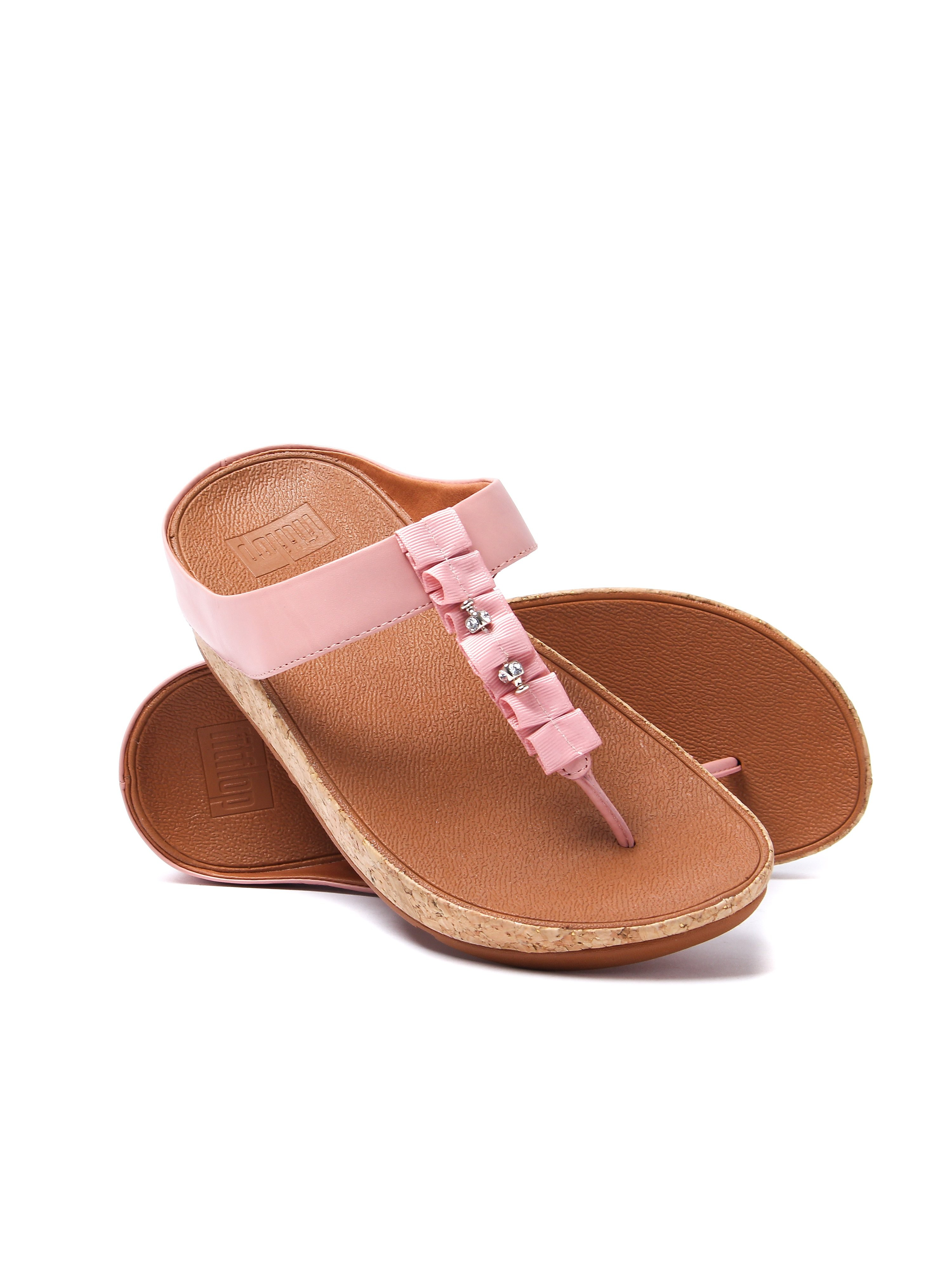 FitFlop Women's Ruffle Toe-Thong Sandals - Dusky Pink