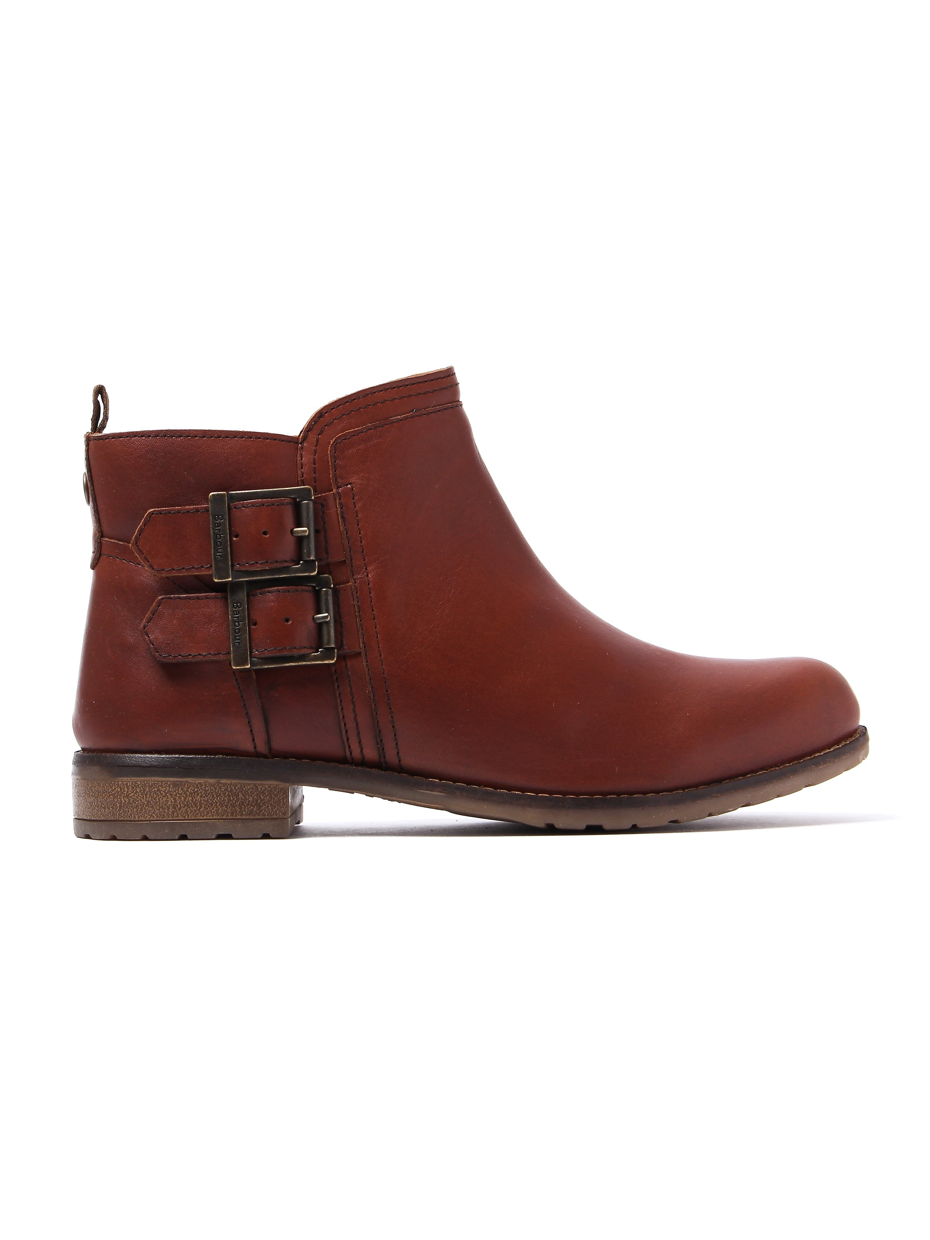 Barbour Women's Sarah Low Buckle Boots - Chestnut Leather