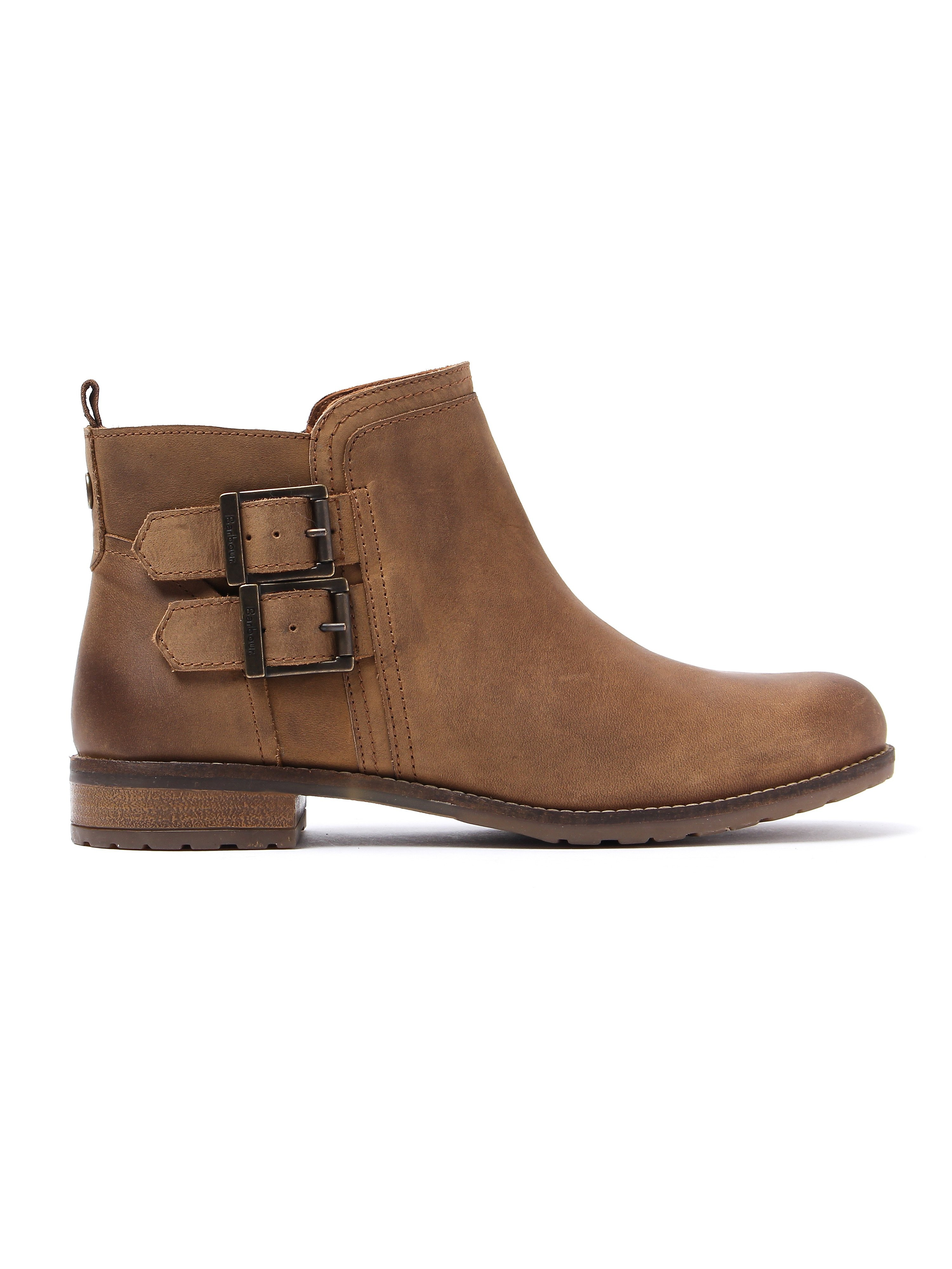 Barbour Women's Sarah Low Buckle Boots - Cognac Nubuck