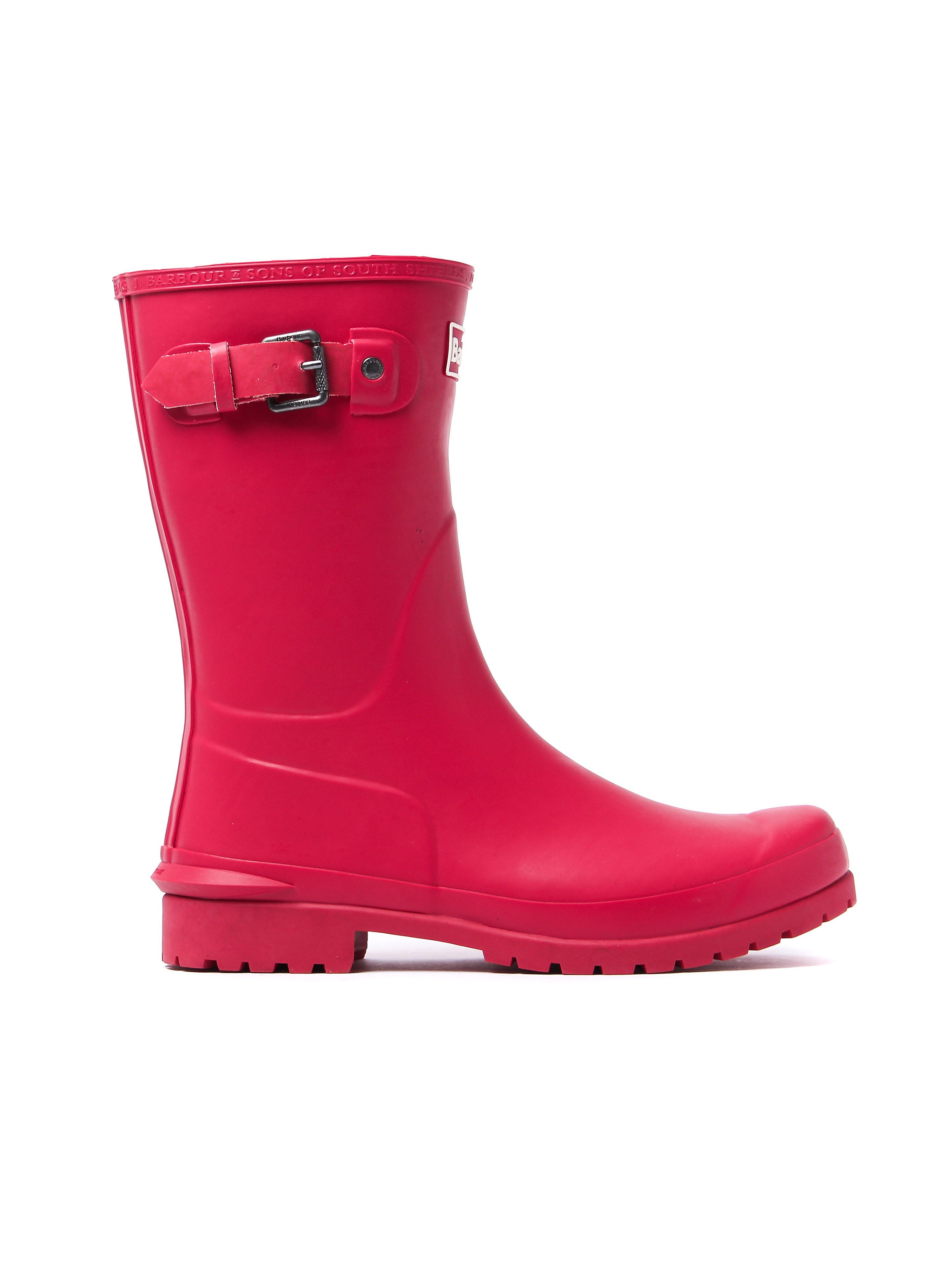 Barbour Women's Primrose Short Wellington Boots - Raspberry