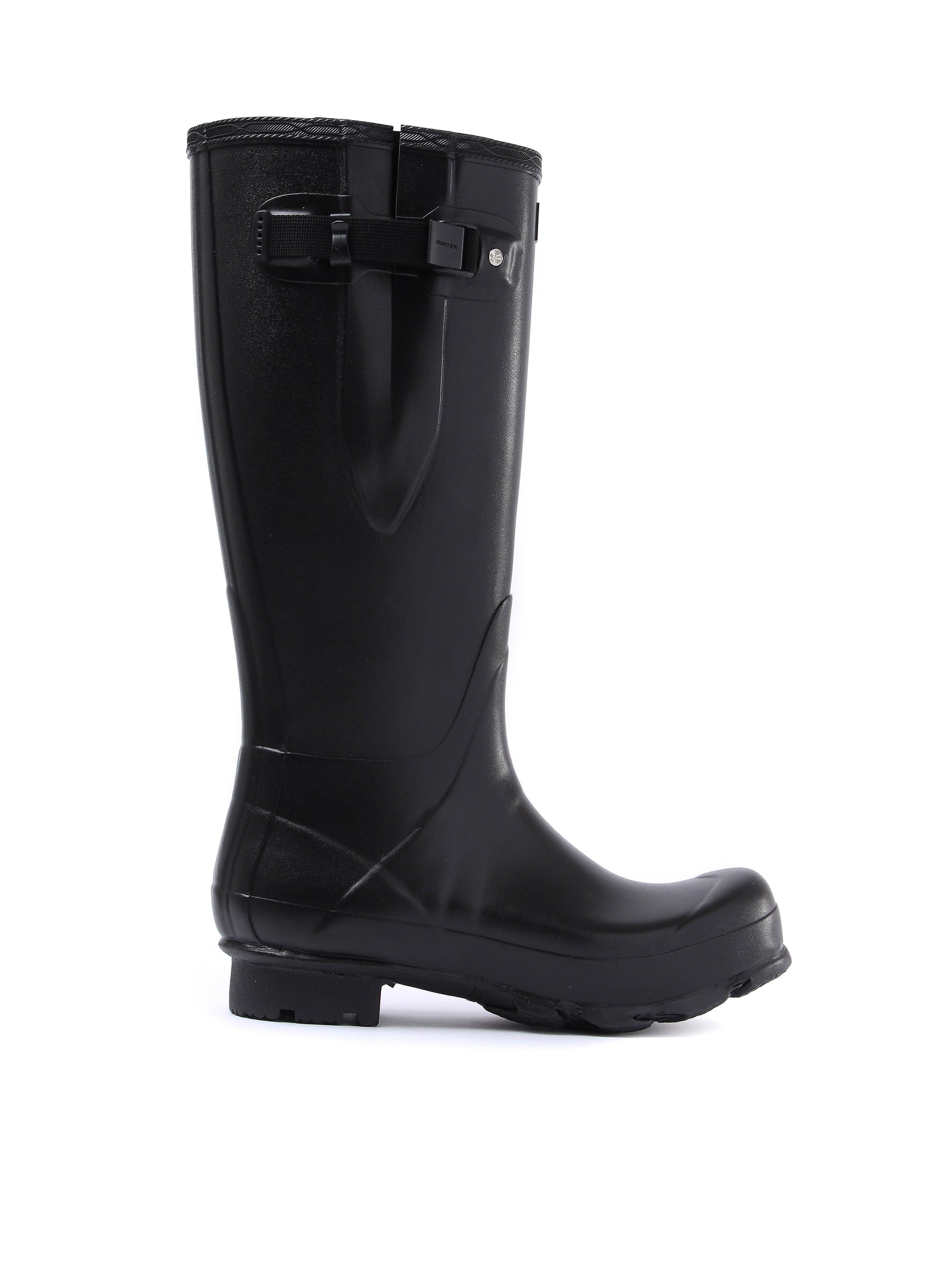 Hunter Wellies Men's Norris Field Adjustable Wellington Boots - Black