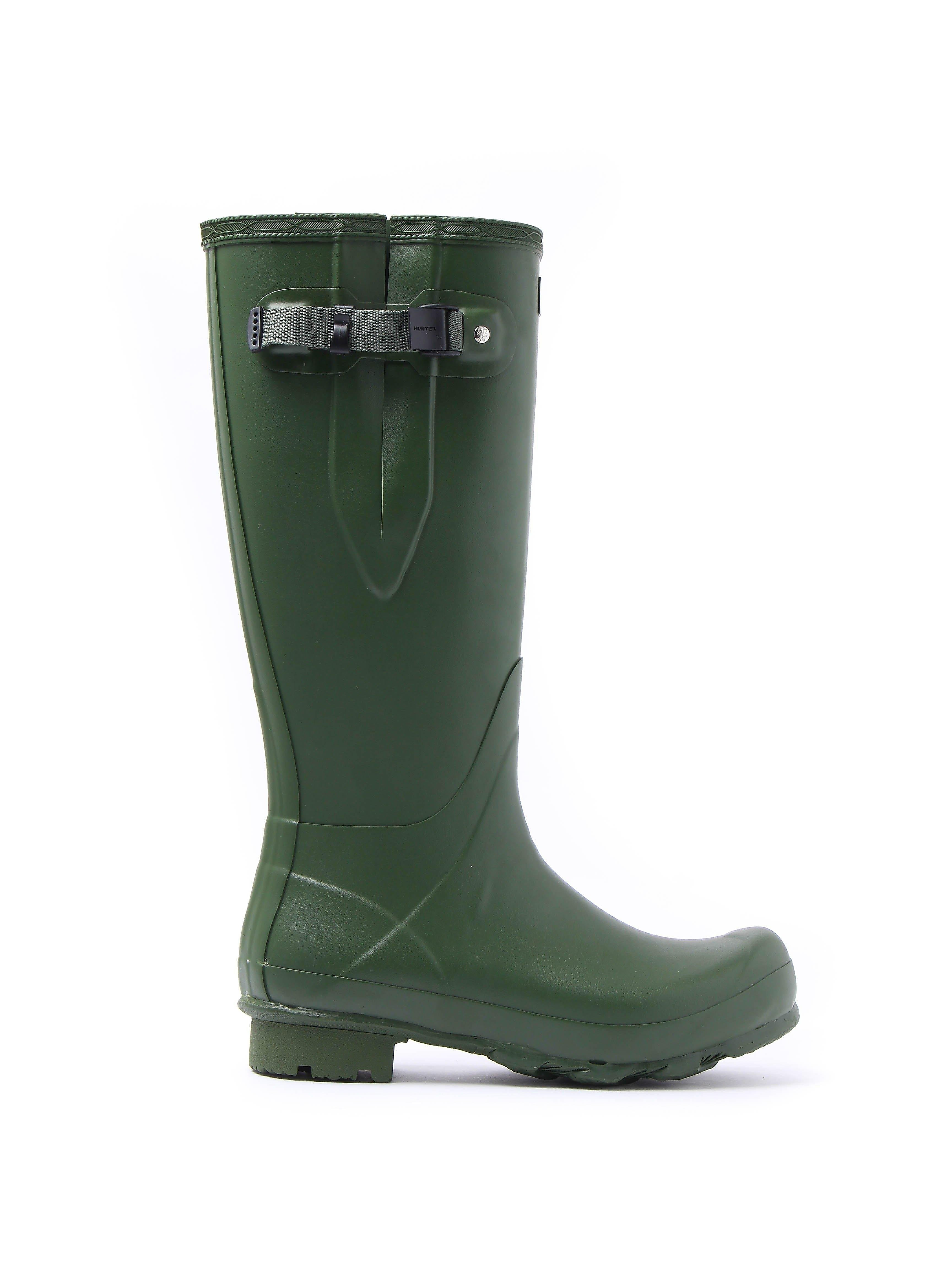 Hunter Wellies Men's Norris Field Adjustable Wellington Boots - Vintage Green