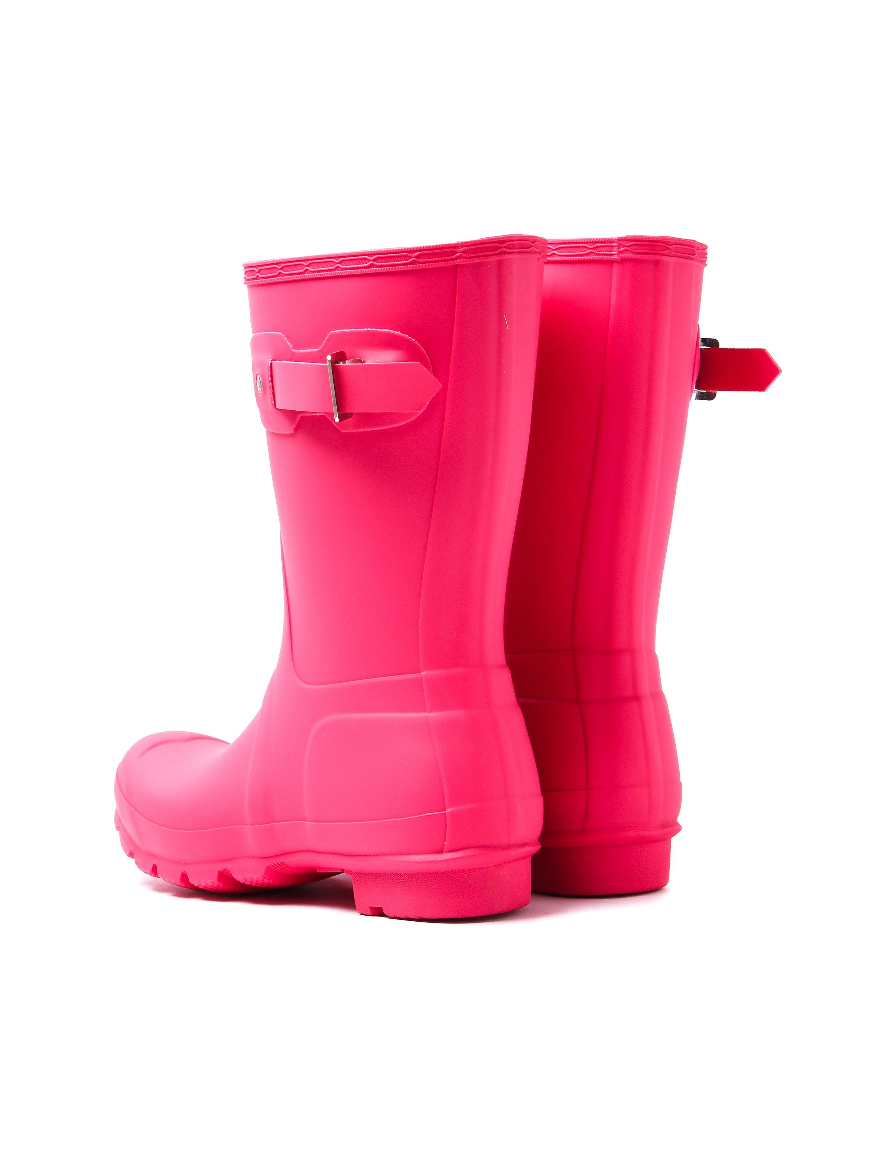 Hunter Wellies Women's Original Short Wellington Boots - Bright Pink