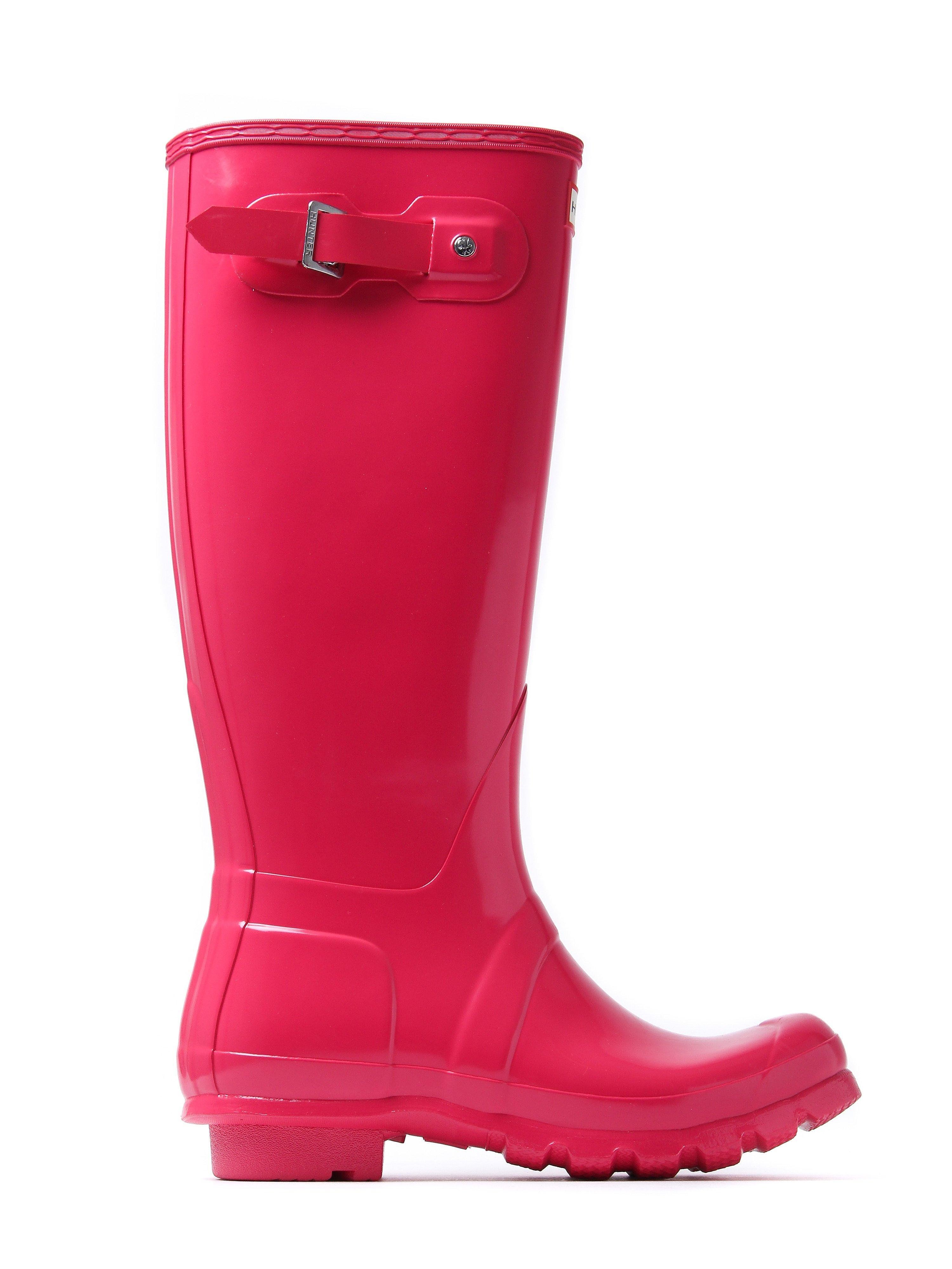 Hunter Wellies Women's Original Tall Wellington Boots - Bright Pink Gloss