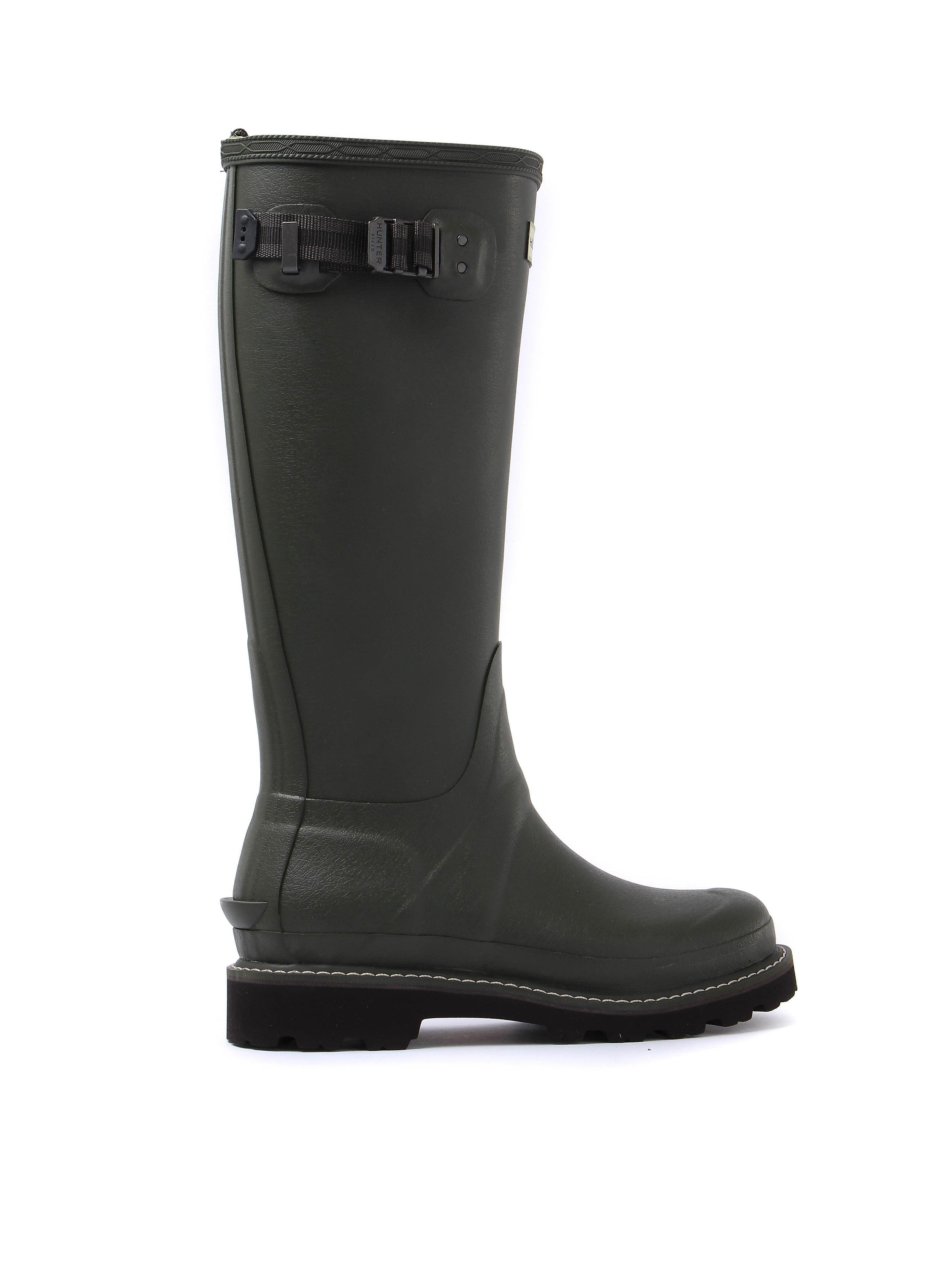 Hunter Wellies Women's Balmoral II Adjustable Wellington Boots - Dark Olive