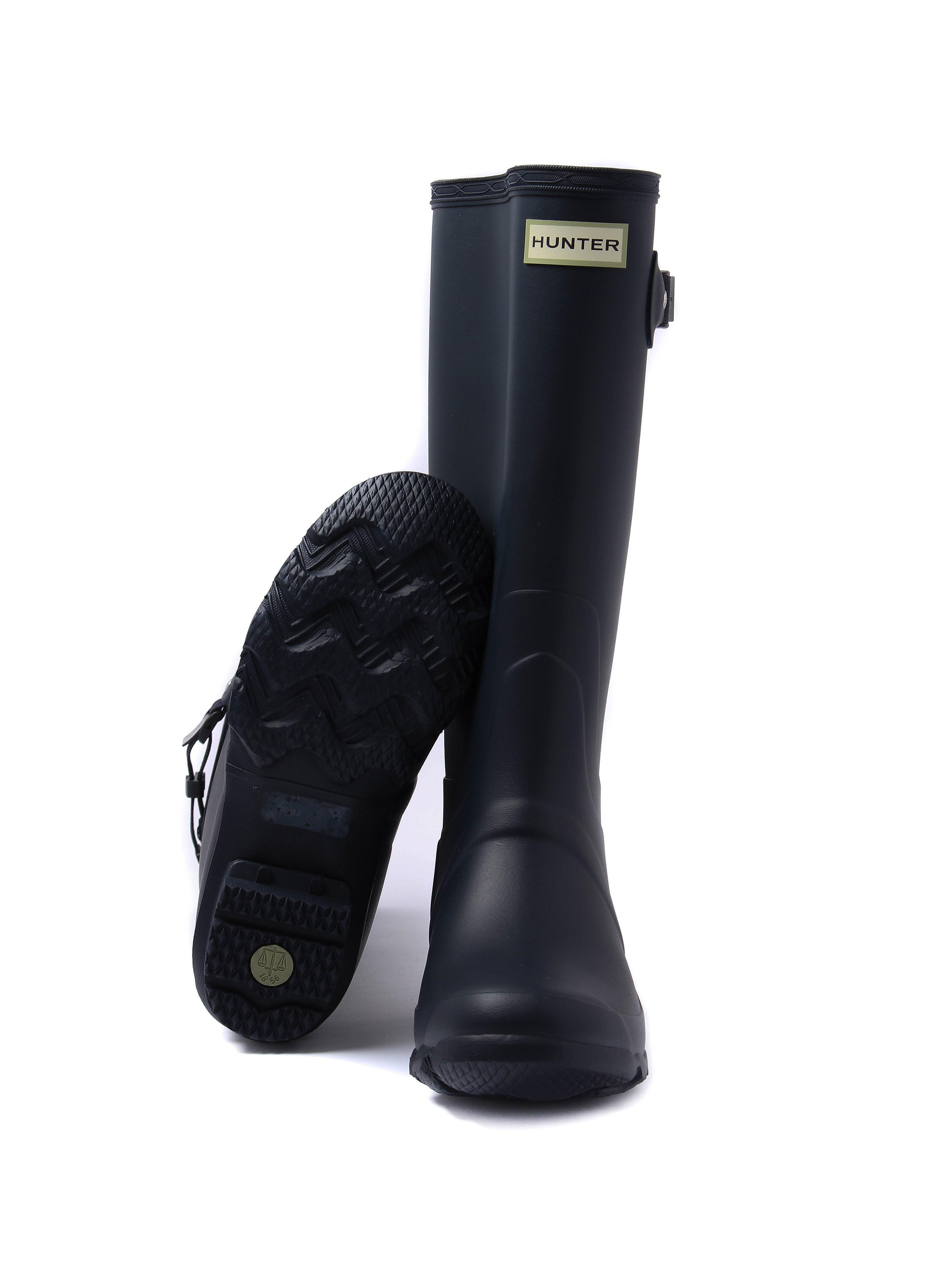Hunter Wellies Women's Huntress Tall Wellington Boots - Navy