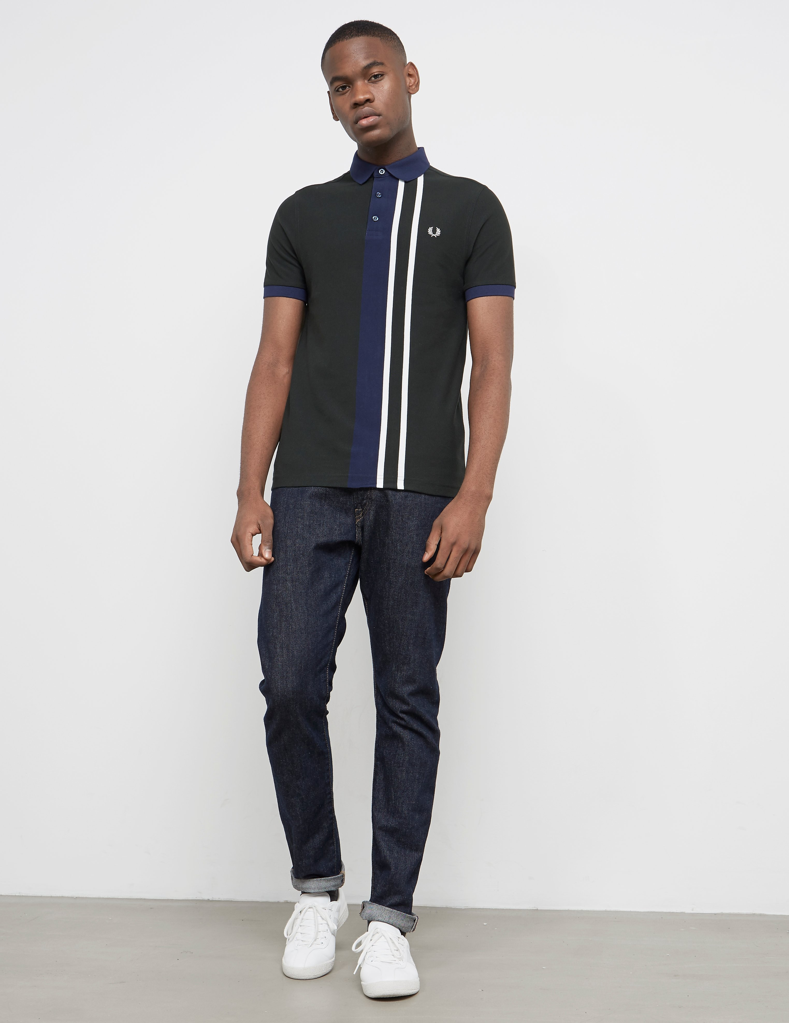 Fred Perry Central Stripe Short Sleeve Polo Shirt