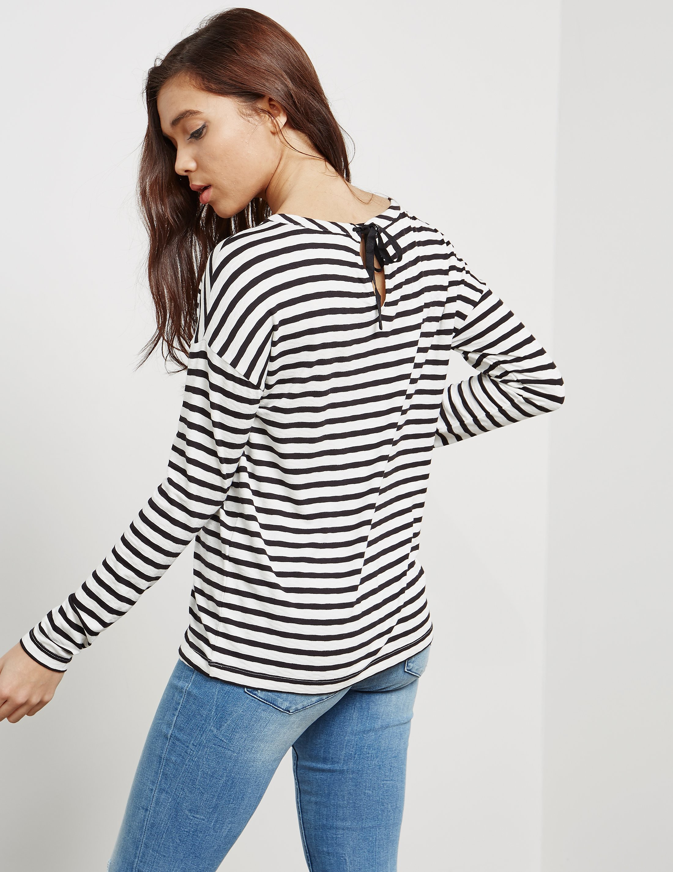 BOSS Orange Stripe Long Sleeve T-Shirt
