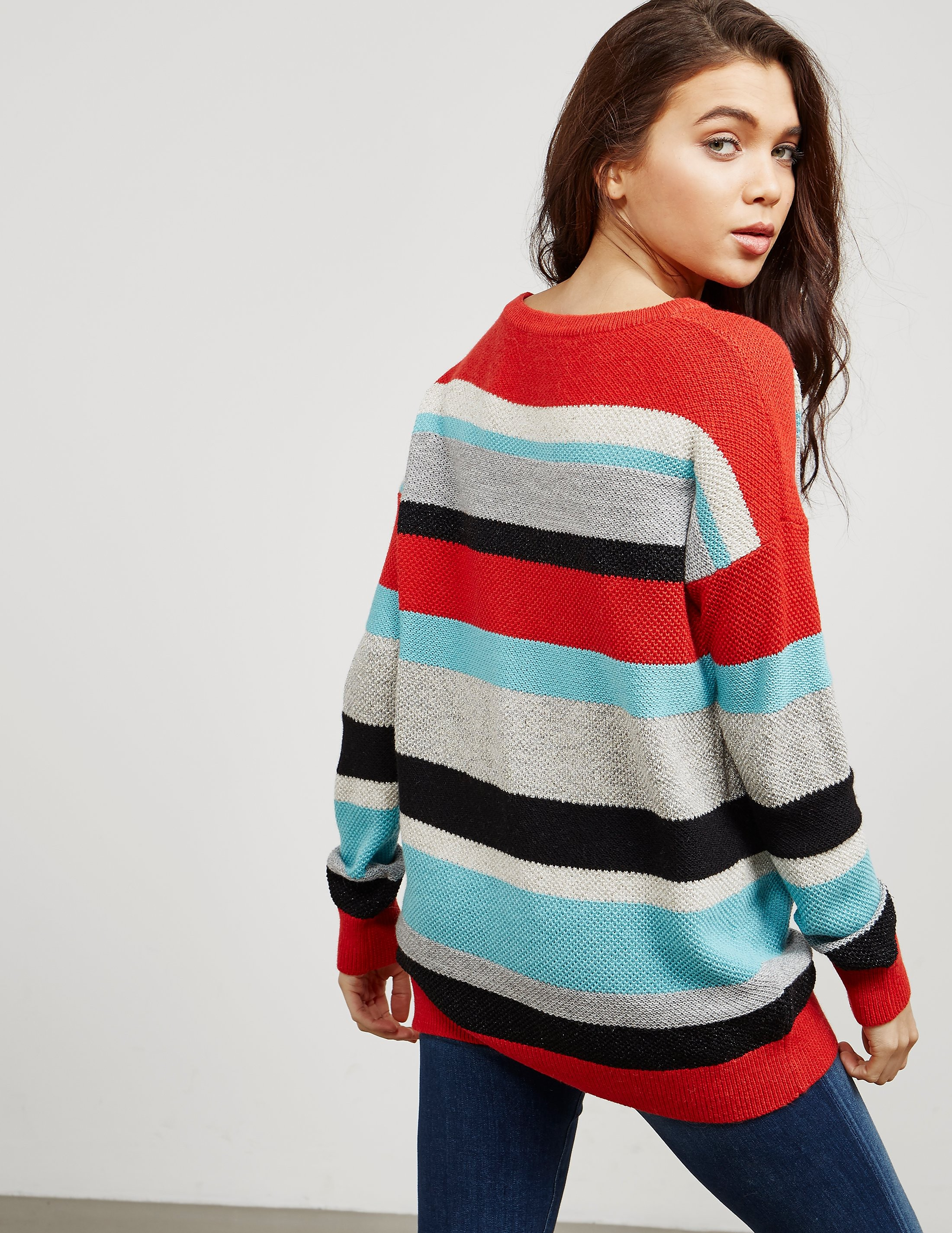BOSS Orange Colour Block Knit Jumper