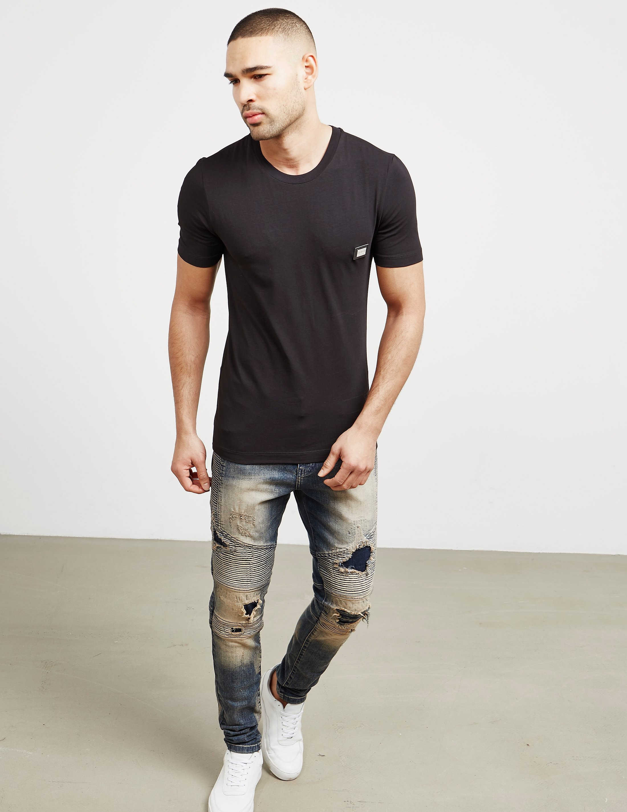Love Moschino Plaque Short Sleeve T-Shirt