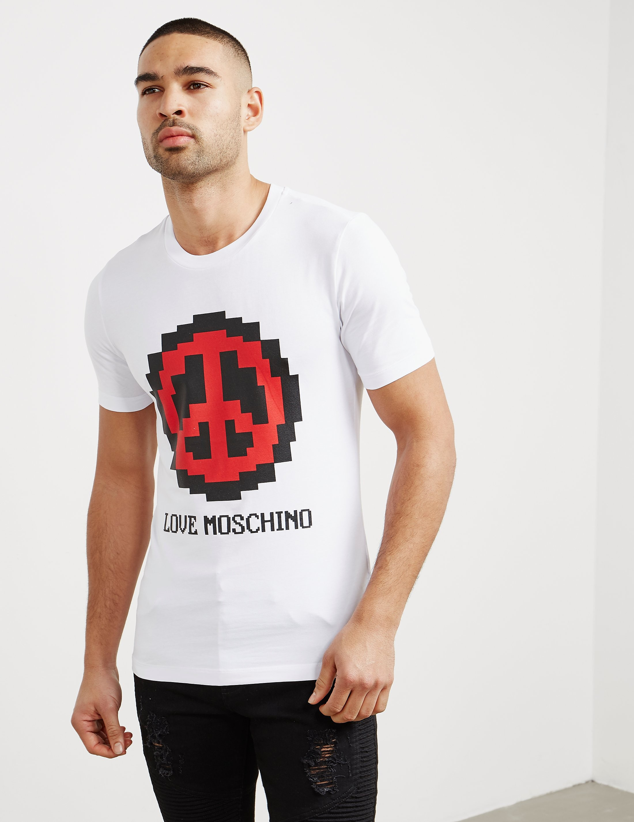 Love Moschino Pixel Peace Short Sleeve T-Shirt