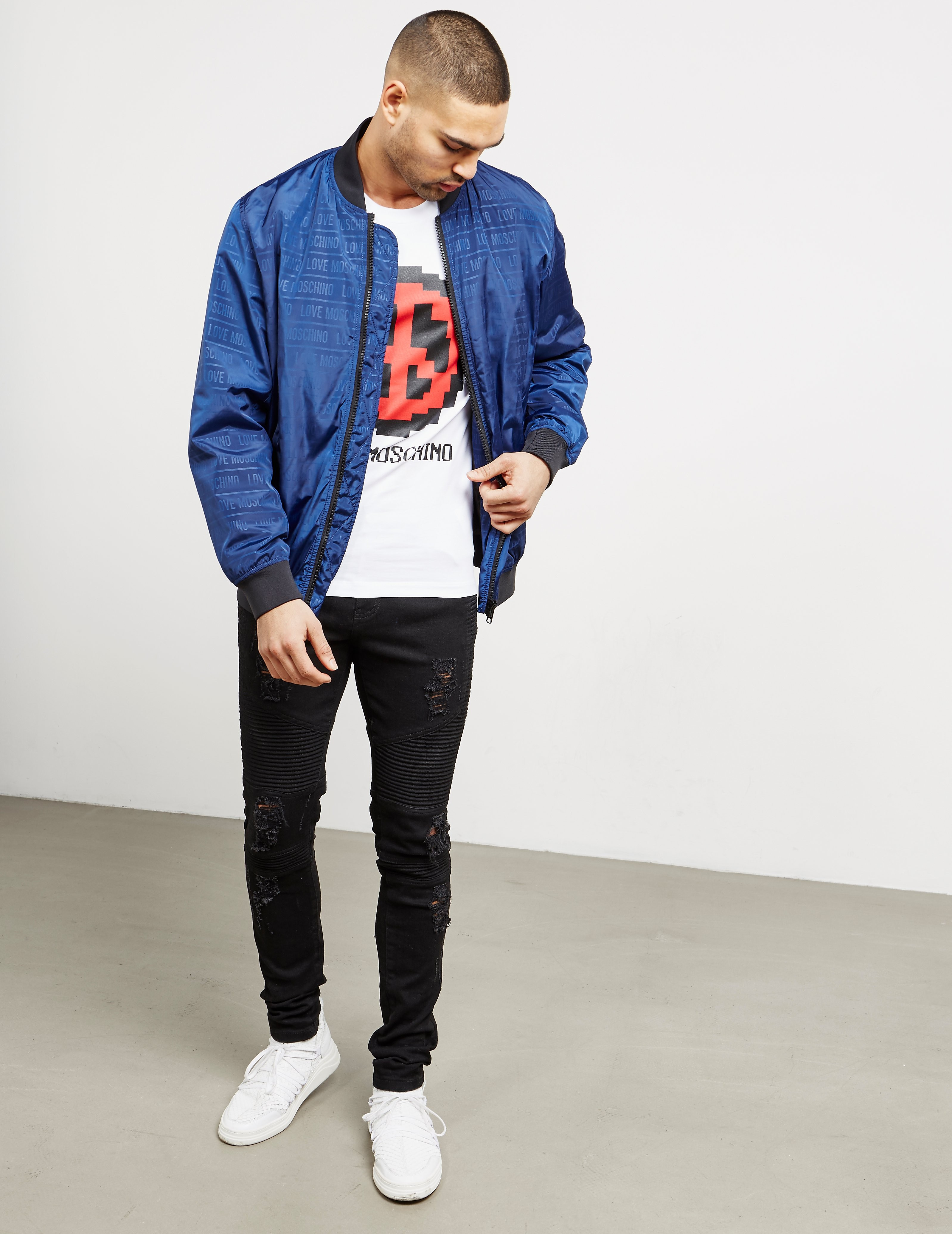 Love Moschino Padded Bomber Jacket - Online Exclusive