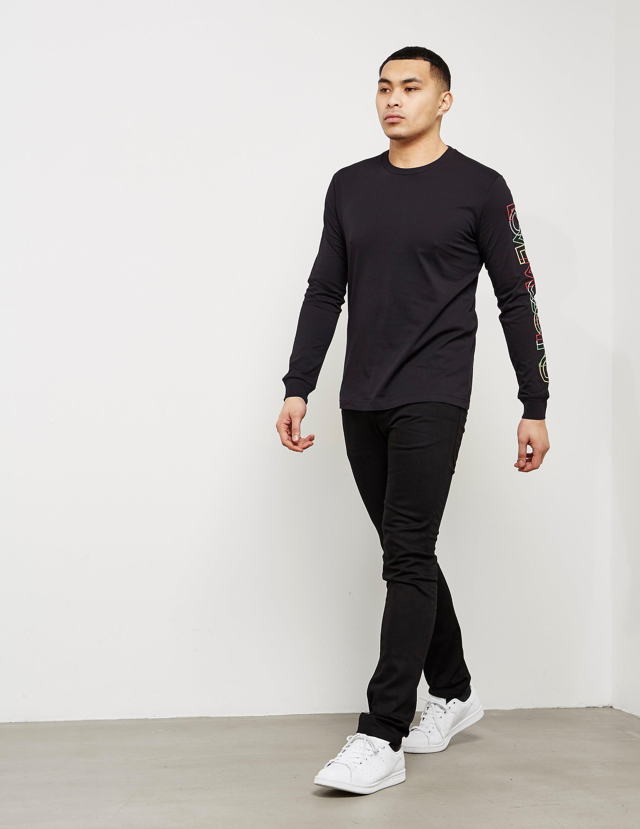Love Moschino Arm Logo Long Sleeve T-Shirt
