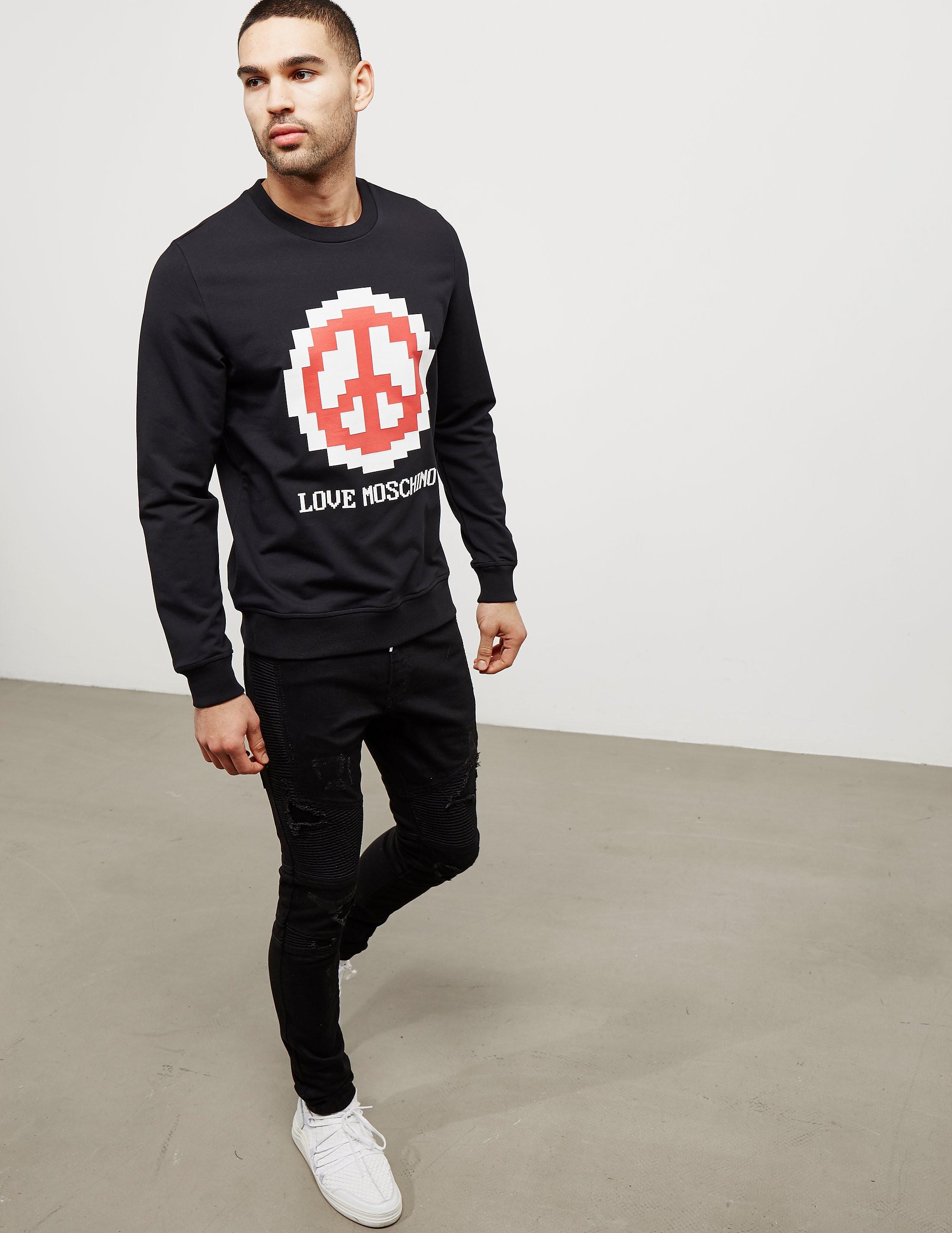 Love Moschino Pixel Peace Sweatshirt