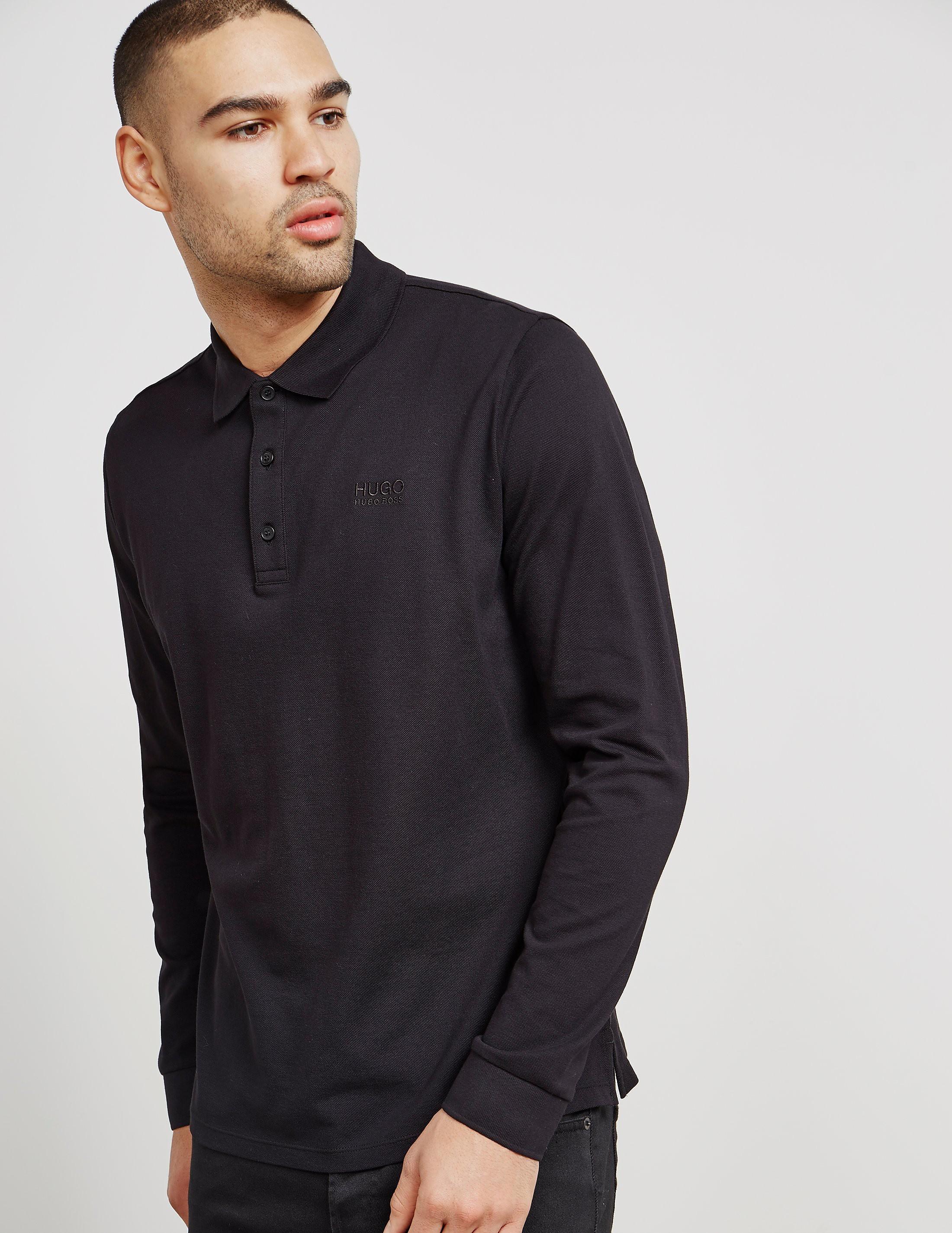 HUGO Domero Long Sleeve Polo Shirt