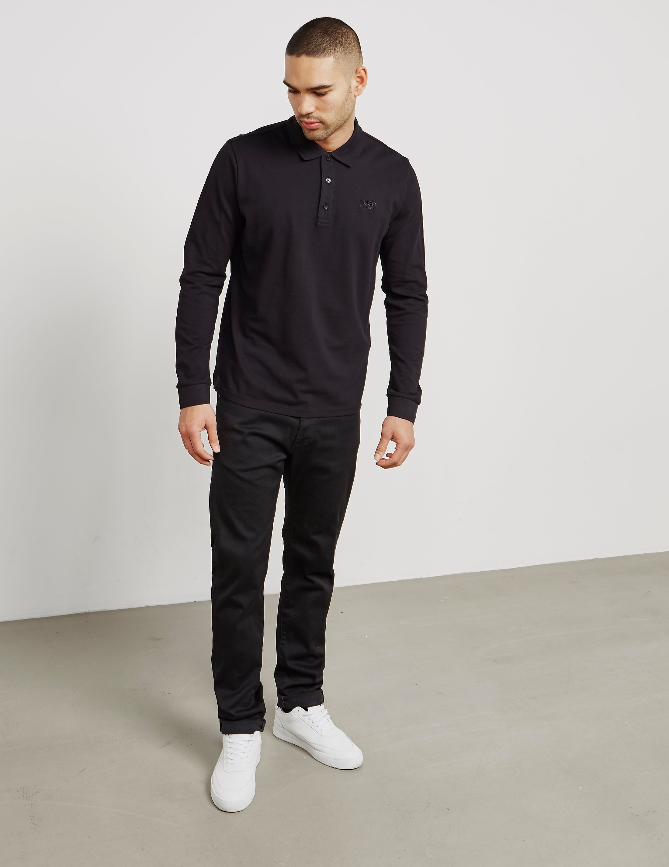 HUGO Domero Long Sleeve Polo Shirt
