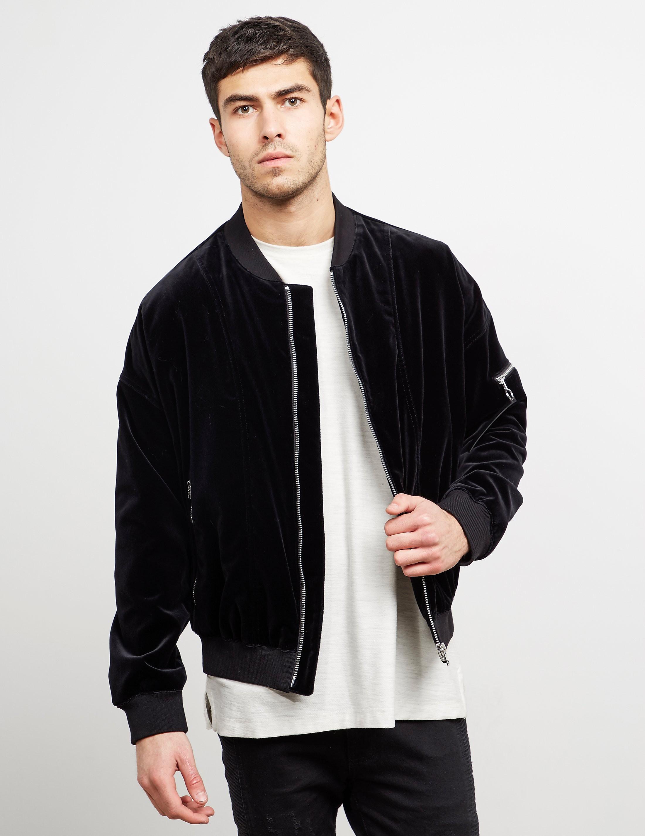 HUGO Velvet Bomber Jacket