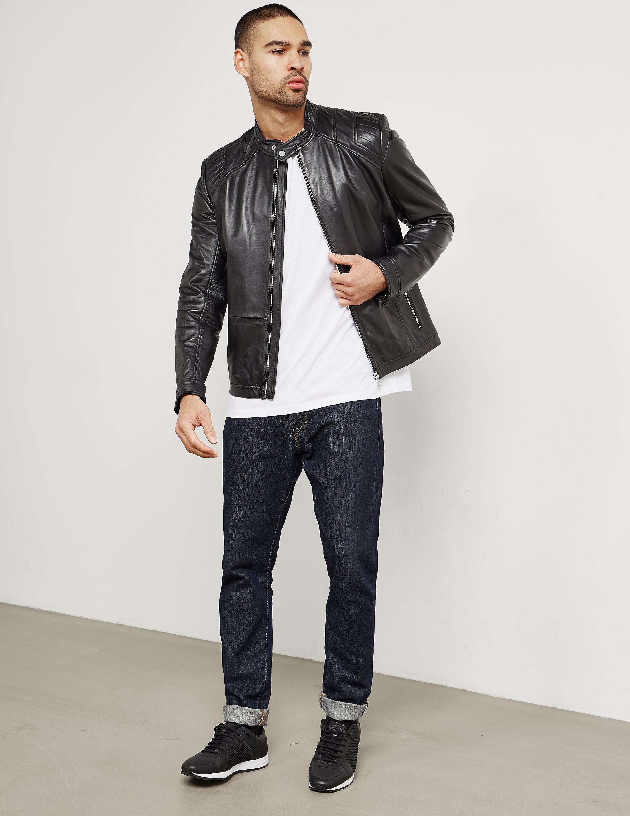 HUGO Lank Leather Jacket