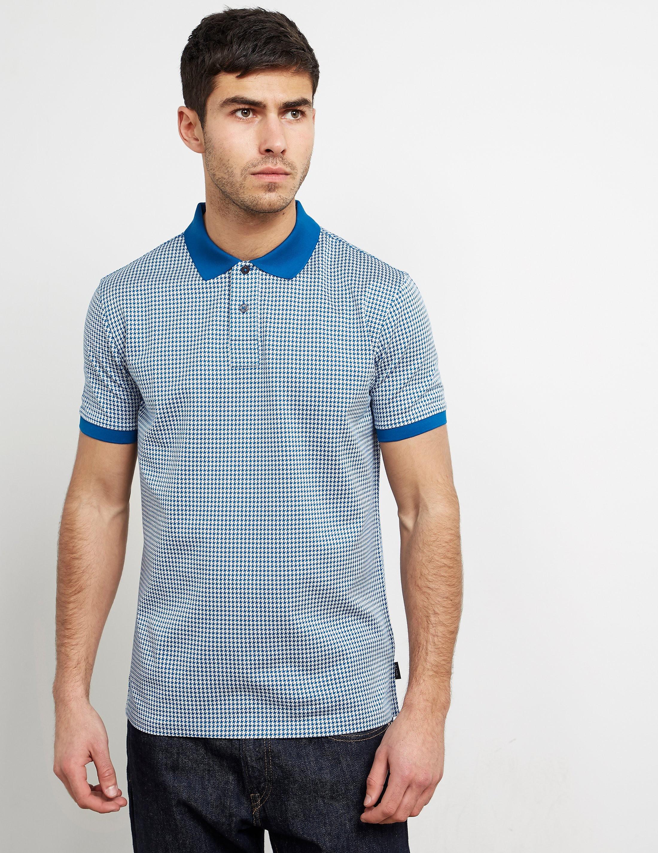 Paul Smith Hounds Jacquard Short Sleeve Polo Shirt