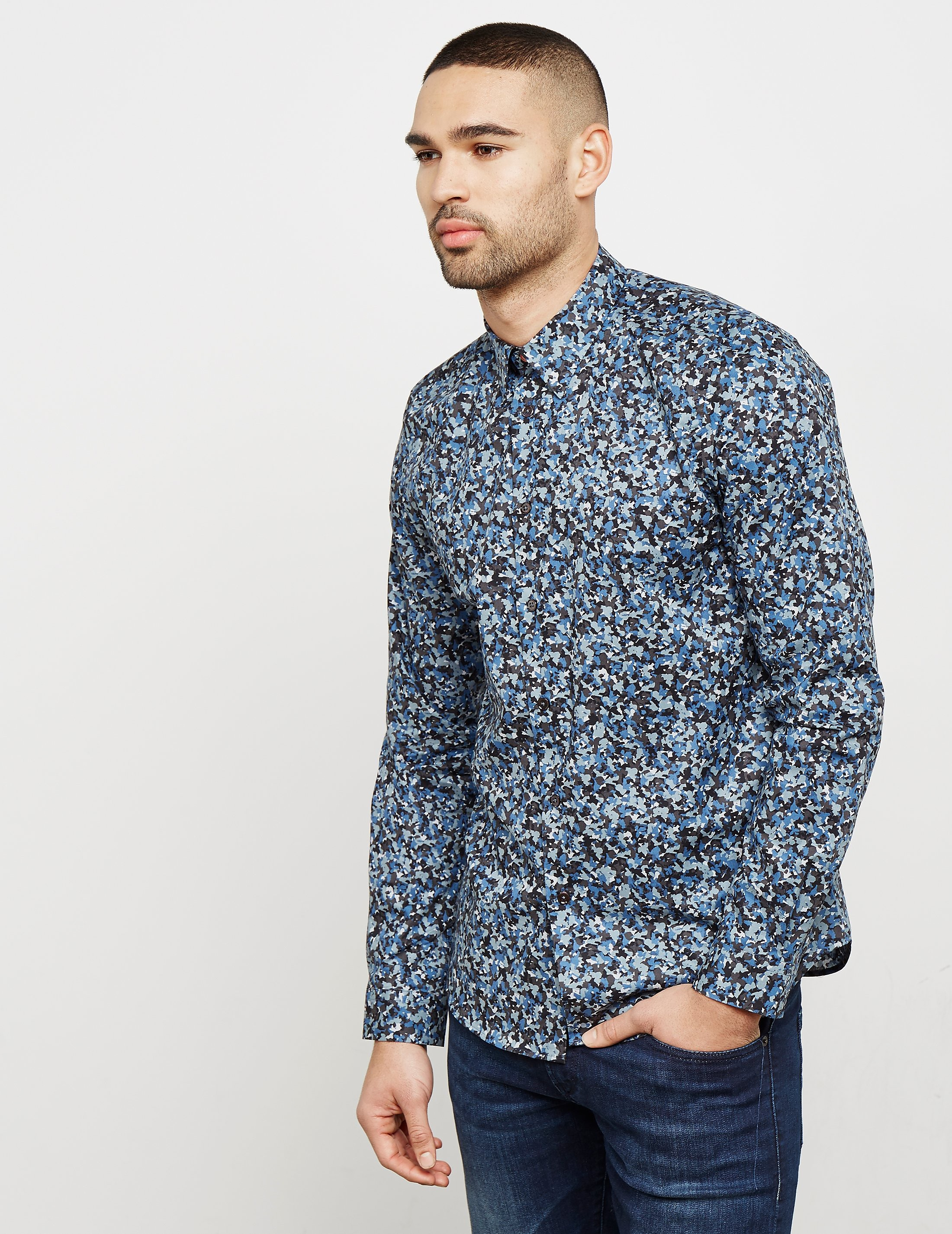 Paul Smith Camoflauge Long Sleeve Shirt