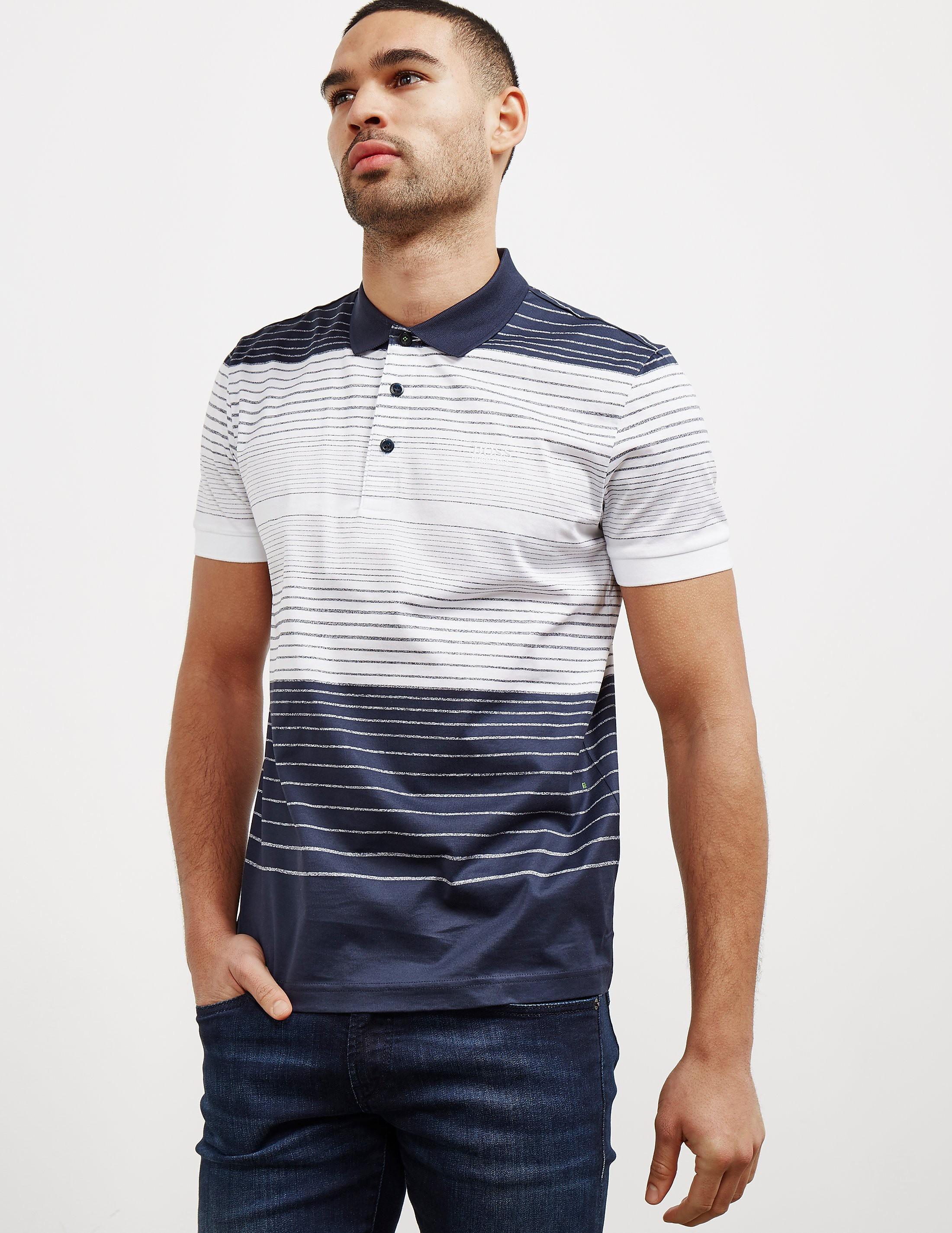 BOSS Green Paddy3 Stripe Short Sleeve Polo Shirt