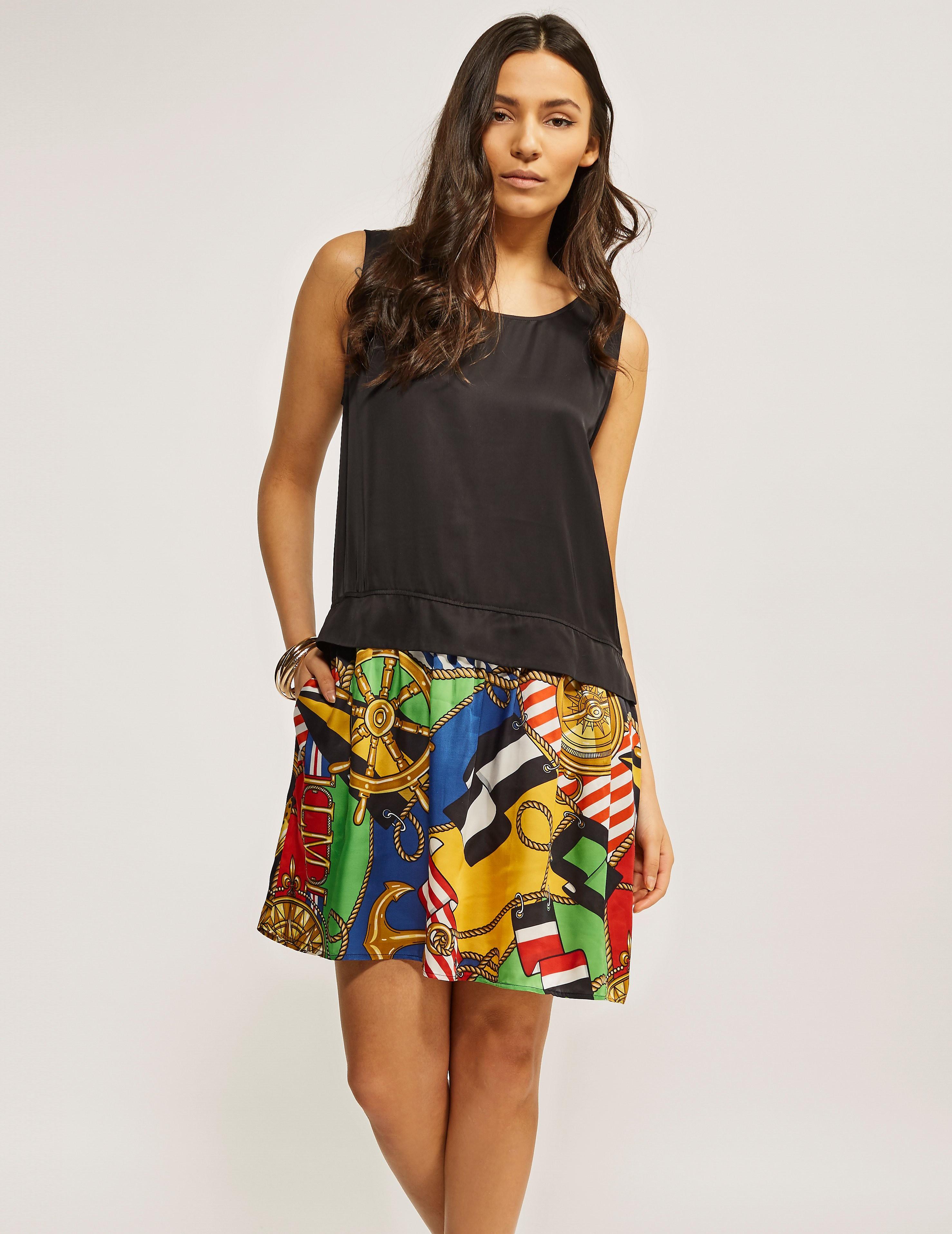 Love Moschino Patterned Bottom Shift Dress