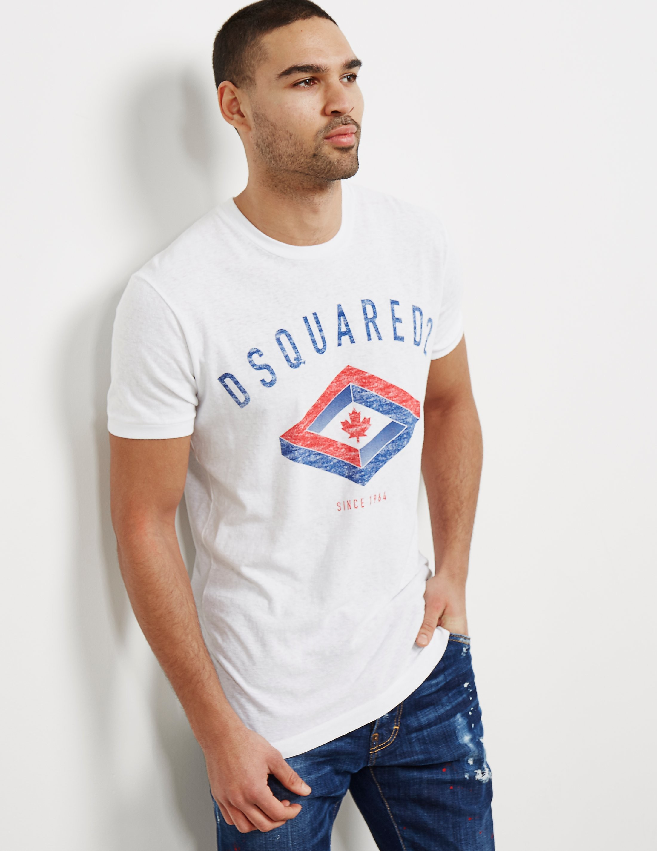 DSQUARED2 Diamond Leaf Short Sleeve T-Shirt