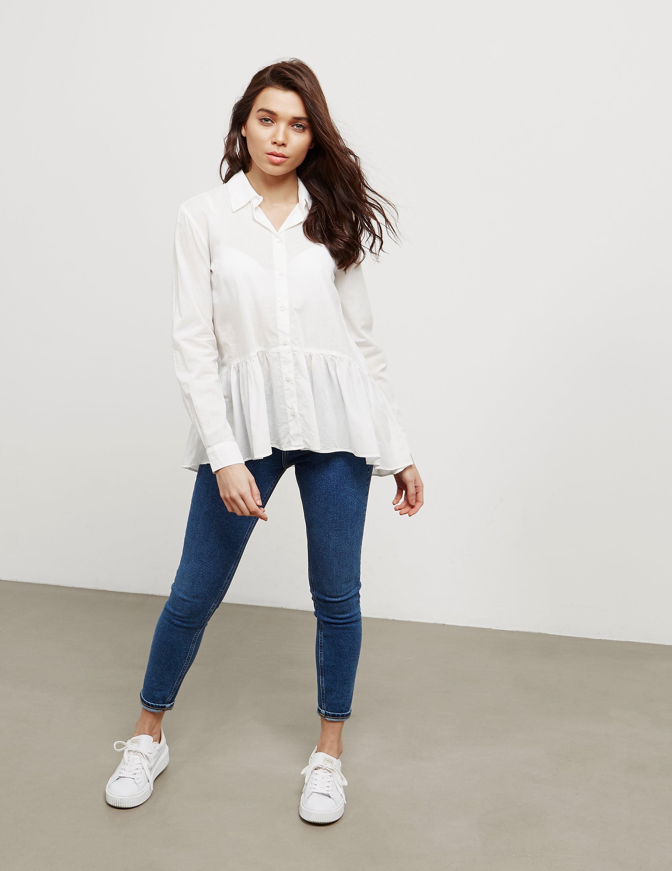 Emporio Armani Frill Hem Long Sleeve Shirt