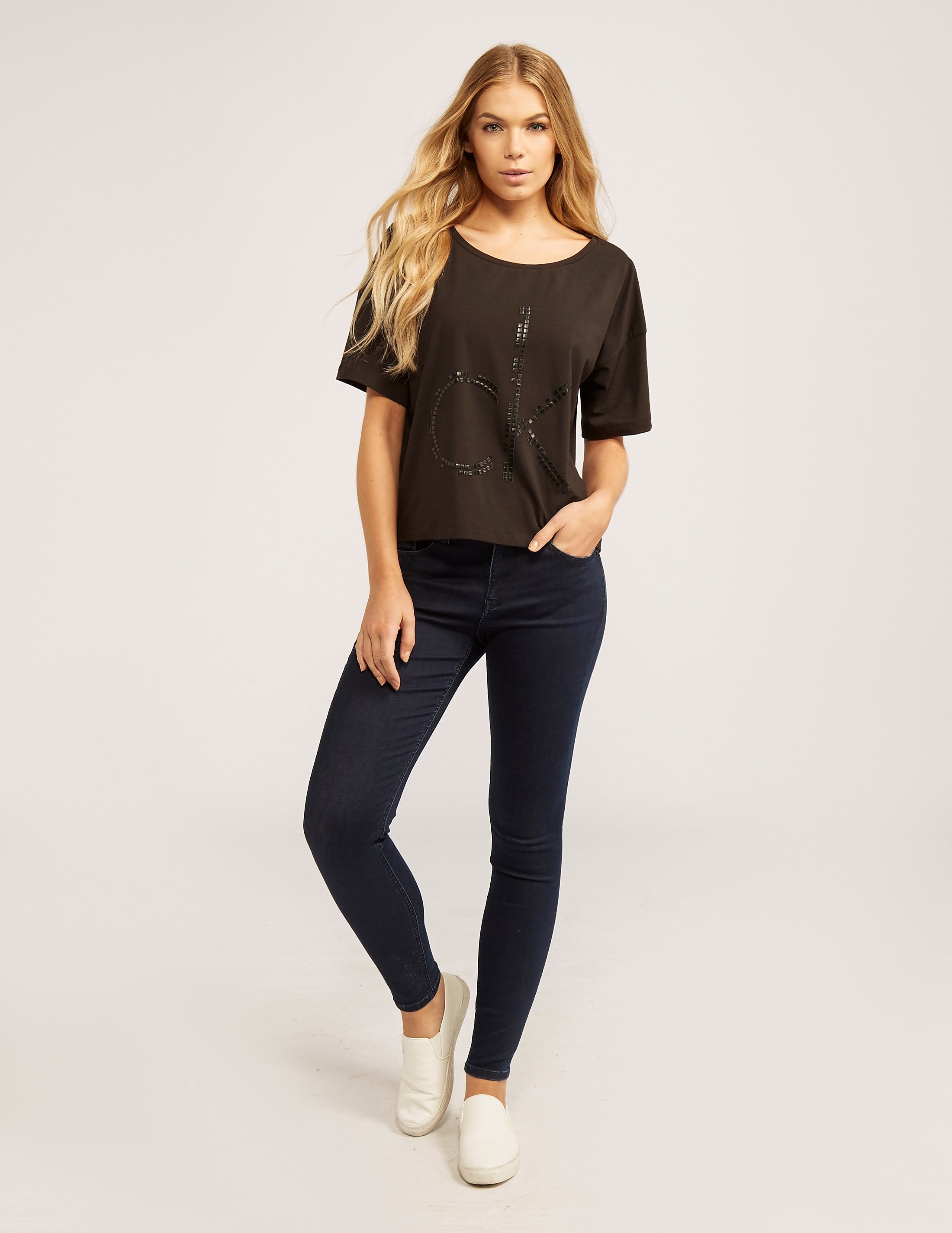 Calvin Klein High Rise Skinny Core Denim Jeans