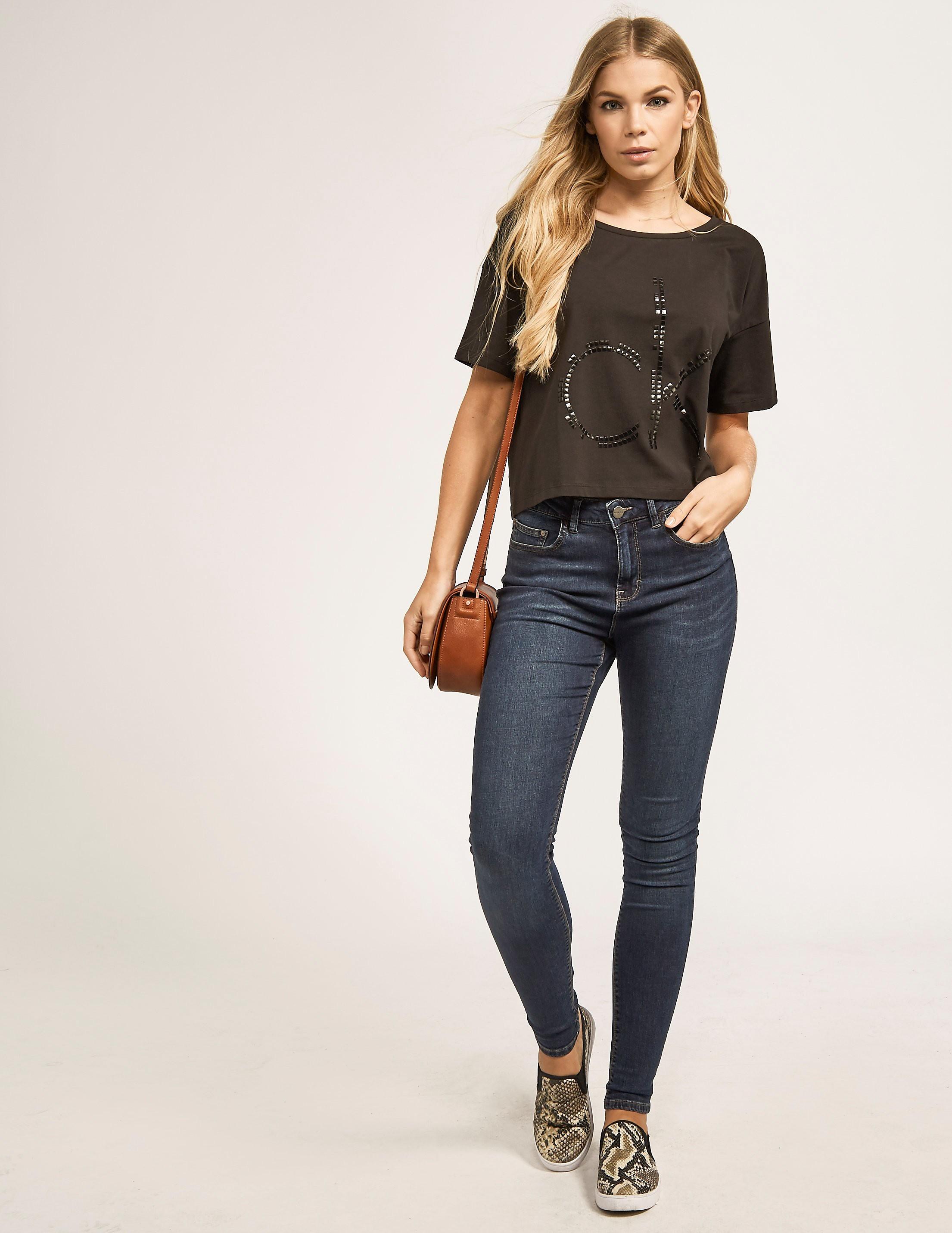 Calvin Klein Tecca-8 Short Studded T-Shirt