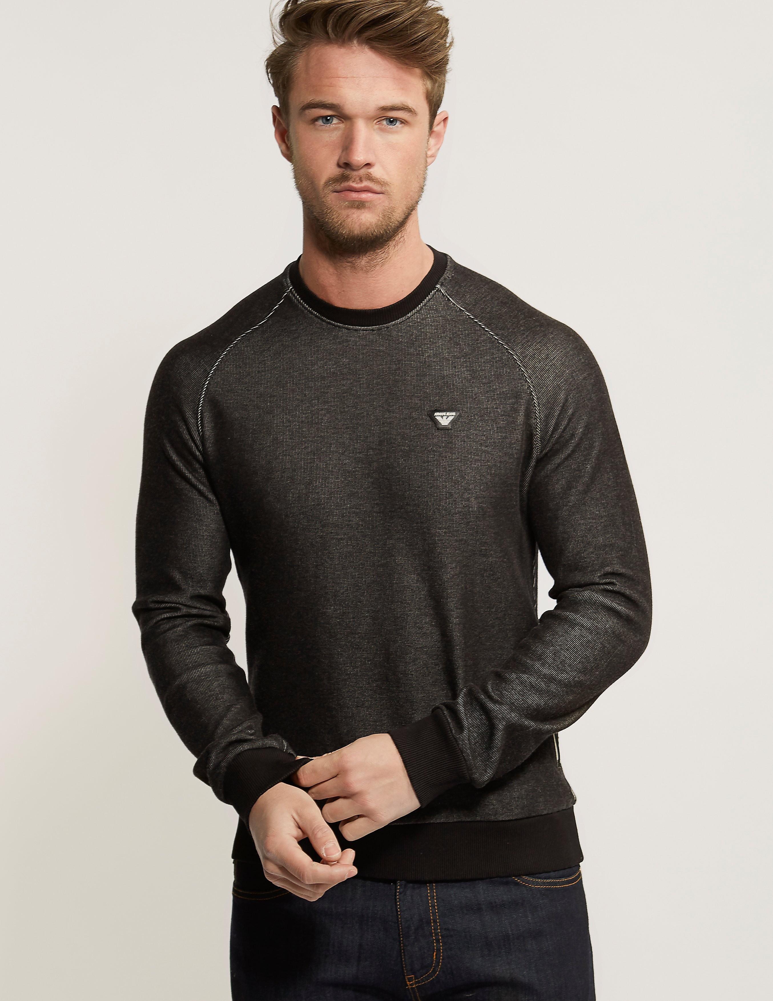 Armani Jeans Crew Neck Twill Long Sleeve Sweatshirt