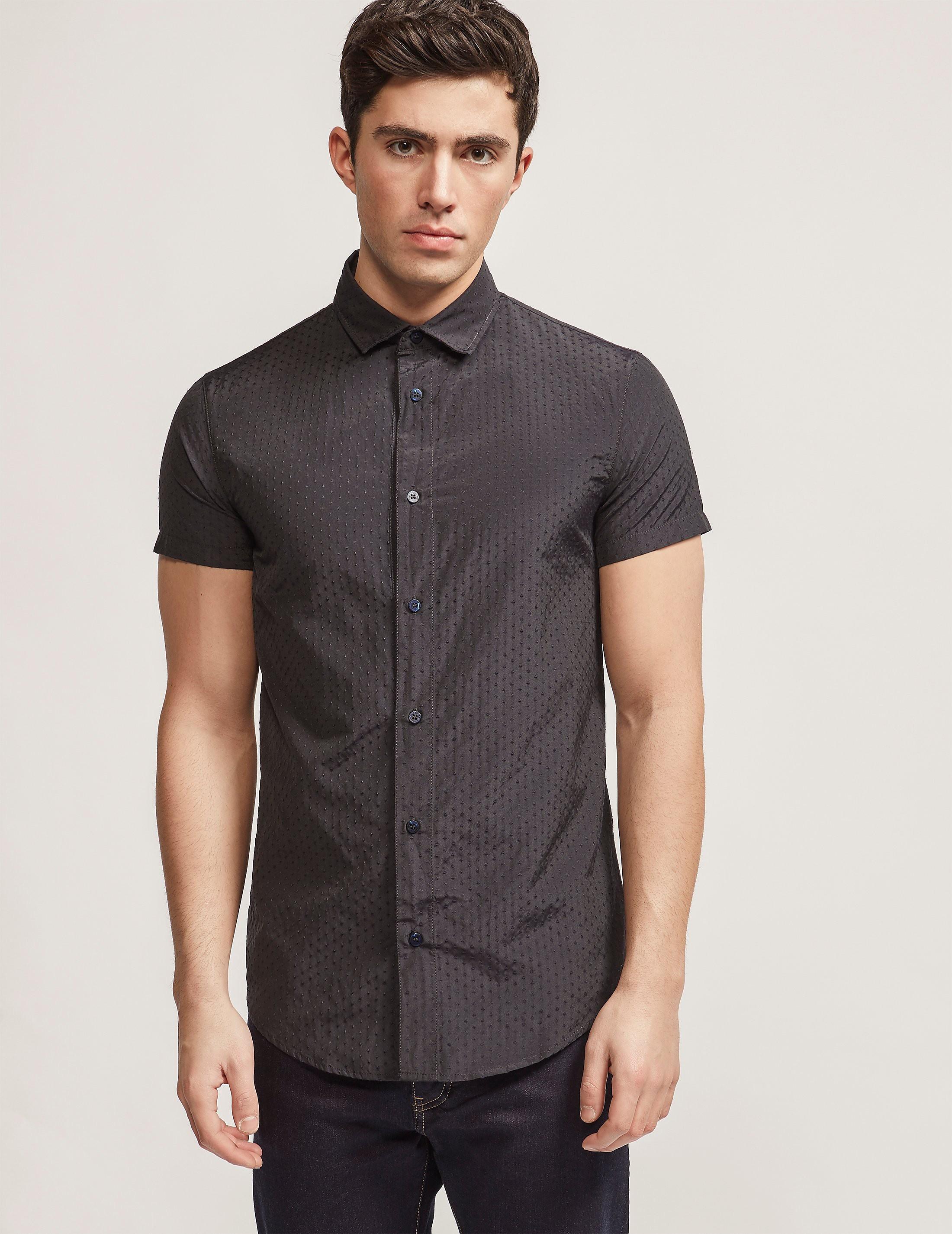Armani Jeans Polka Dot Short Sleeve Shirt