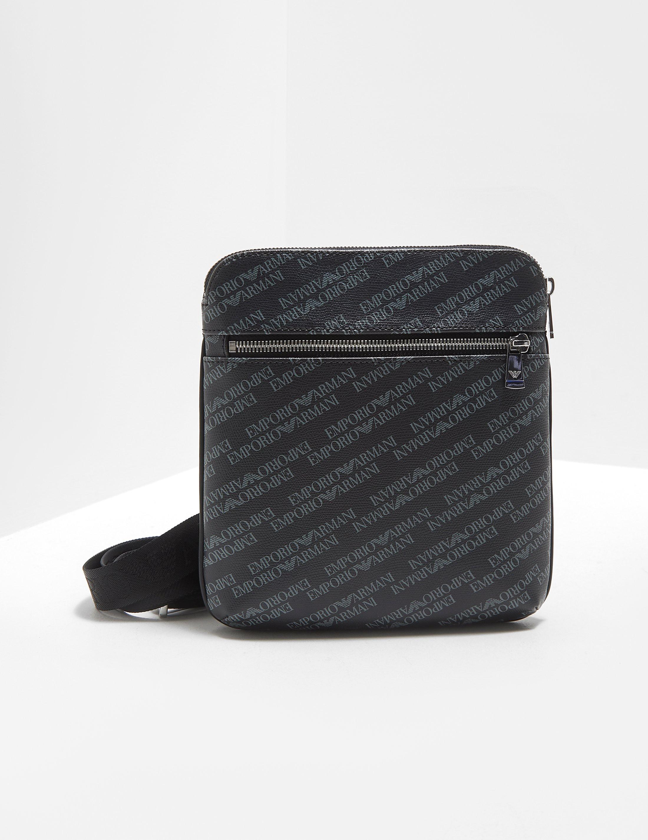 Emporio Armani All Over Logo Small Item Bag
