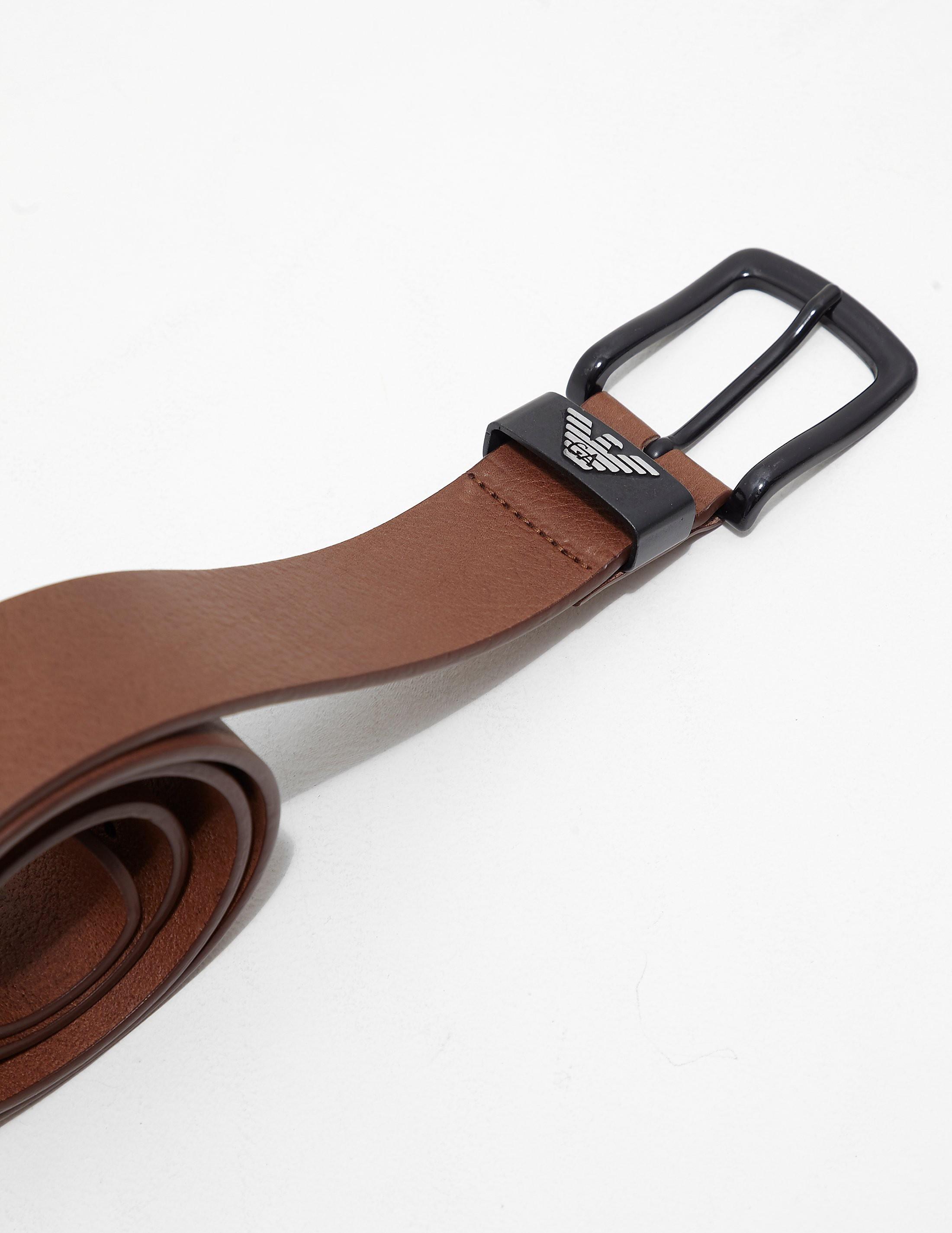 Armani Jeans Granato Leather Belt