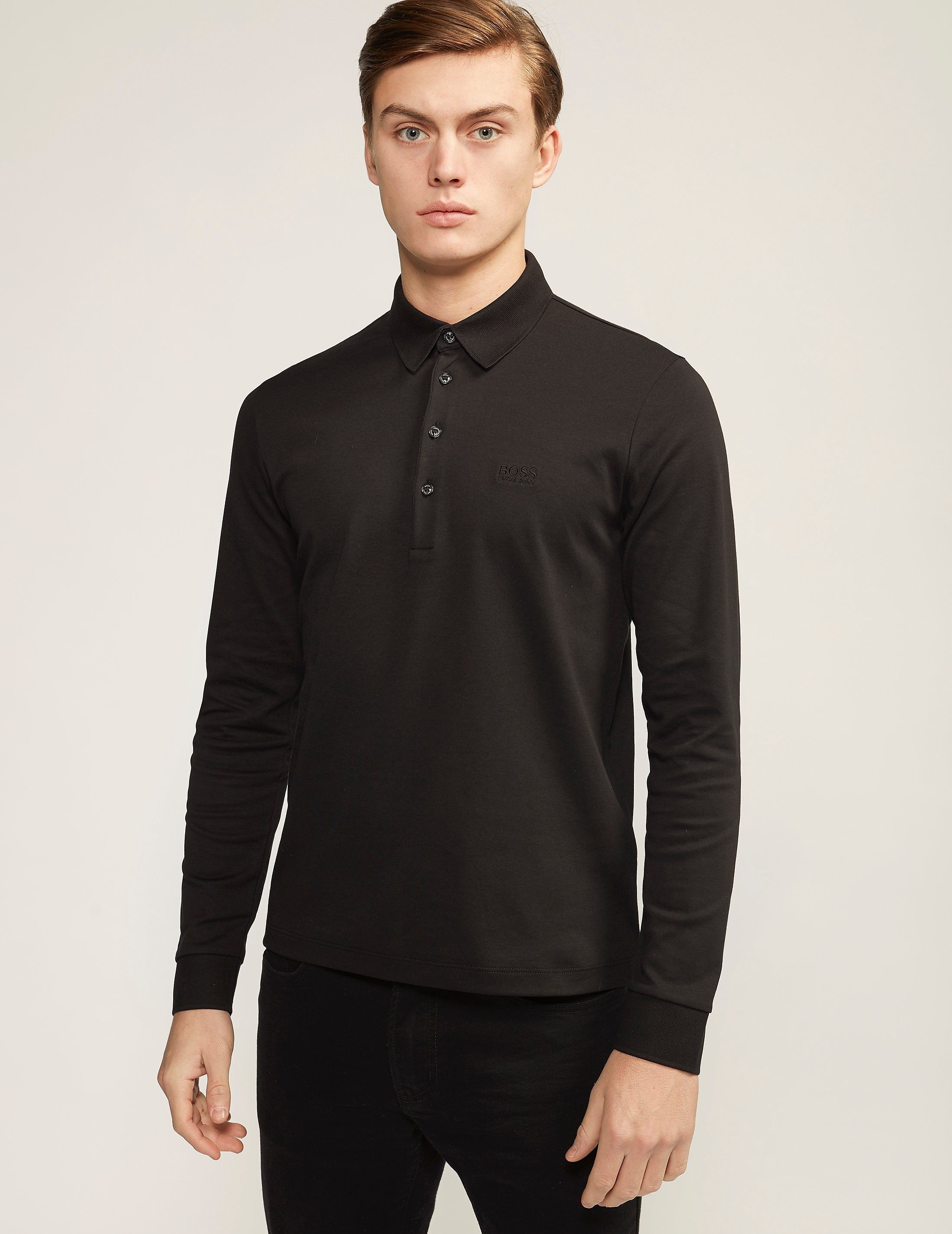 BOSS Green C-Paderna Long Sleeve Polo Shirt