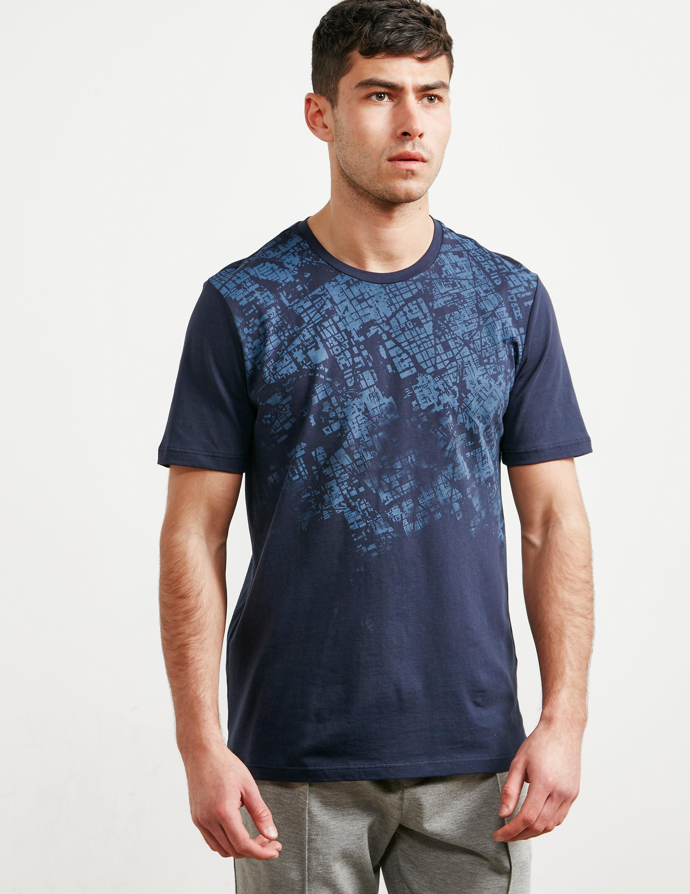 Pal Zileri Ariel Map Short Sleeve T-Shirt