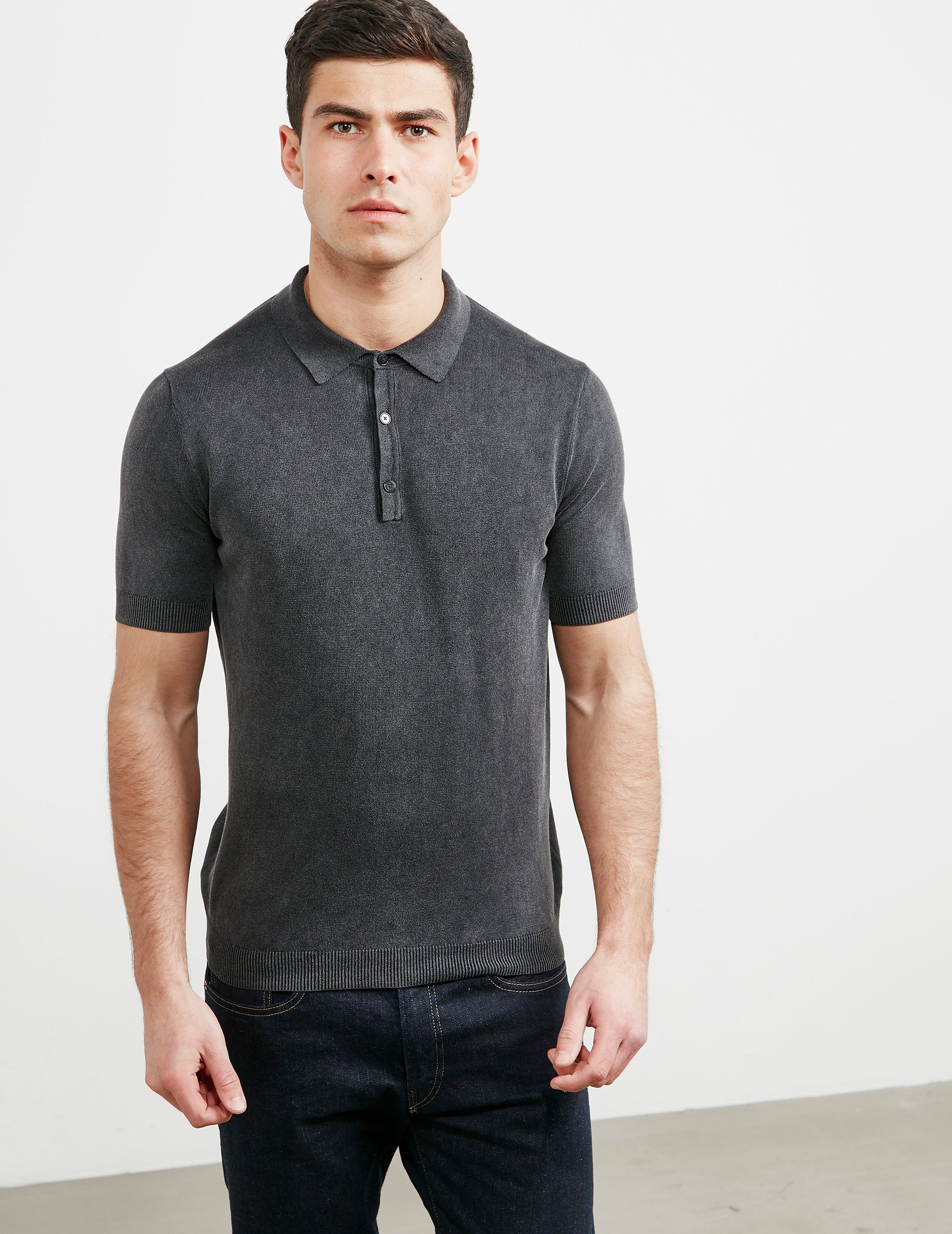 Pal Zileri Knitted Short Sleeve Polo Shirt