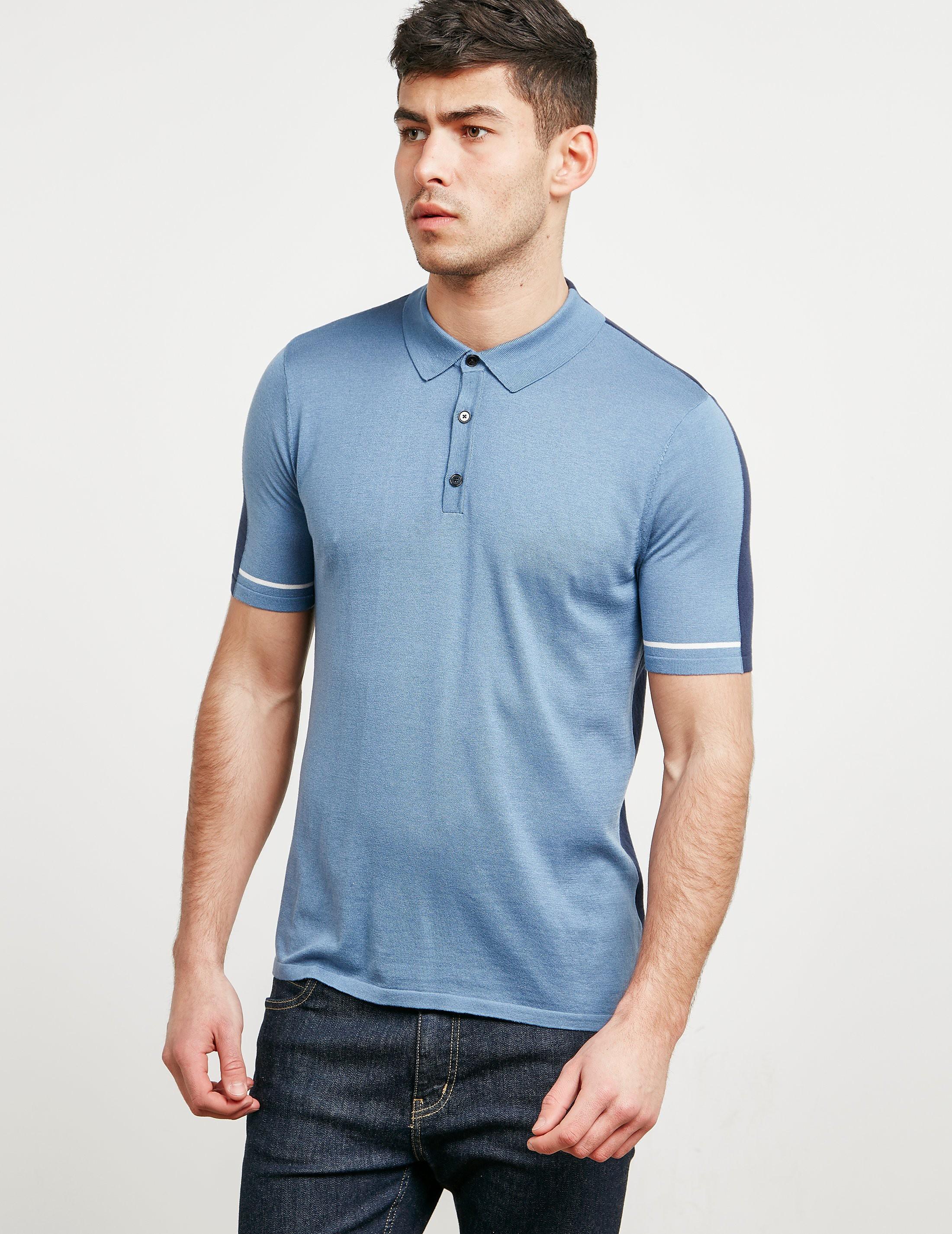Pal Zileri 2-Panel Short Sleeve Polo Shirt