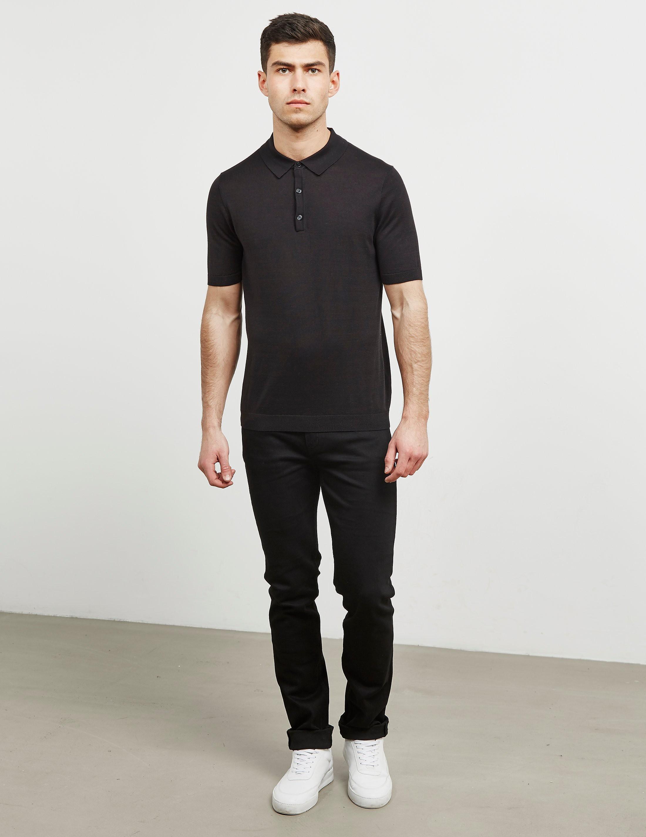 Pal Zileri Slub Short Sleeve Polo Shirt