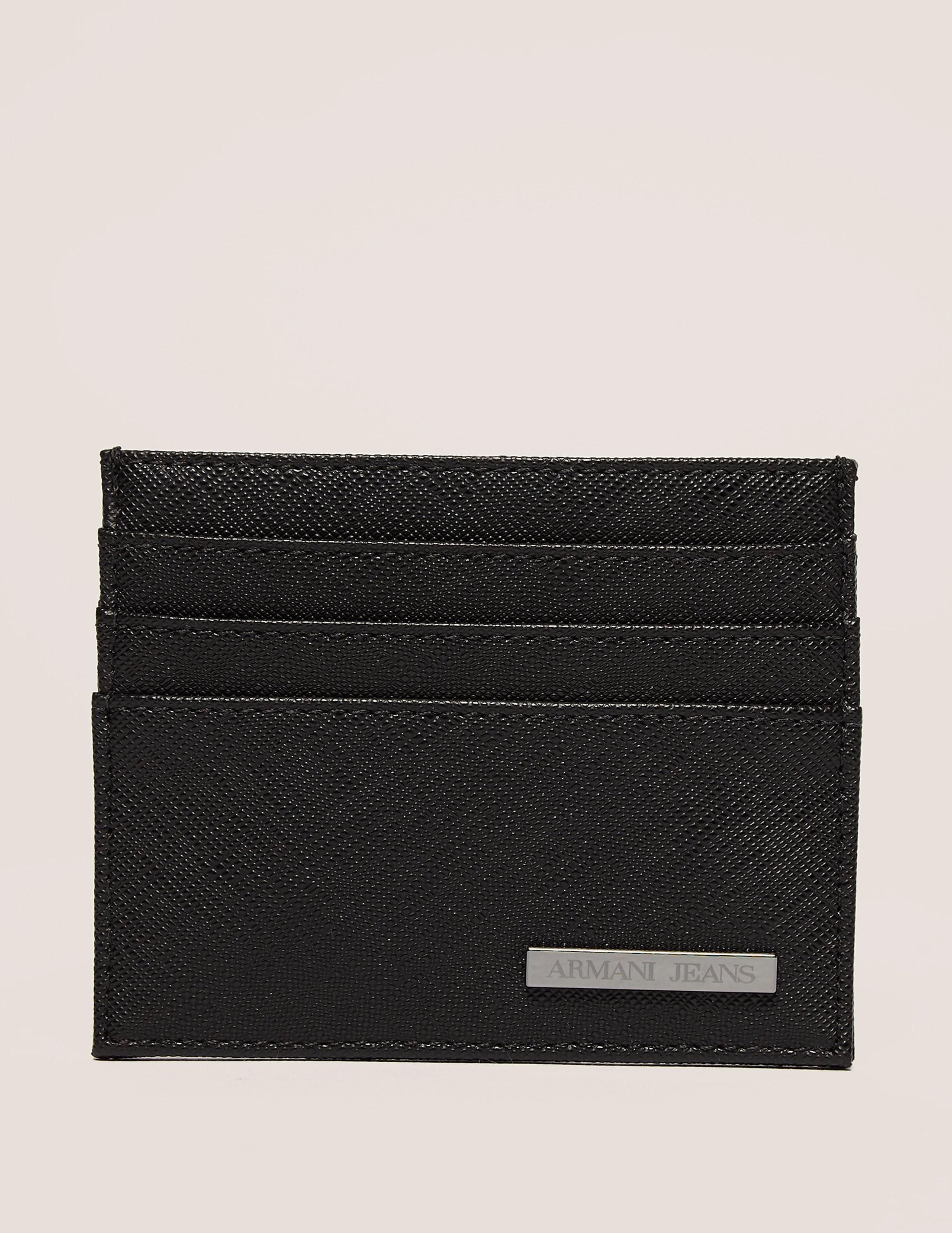 Armani Jeans Saffiano Card Holder