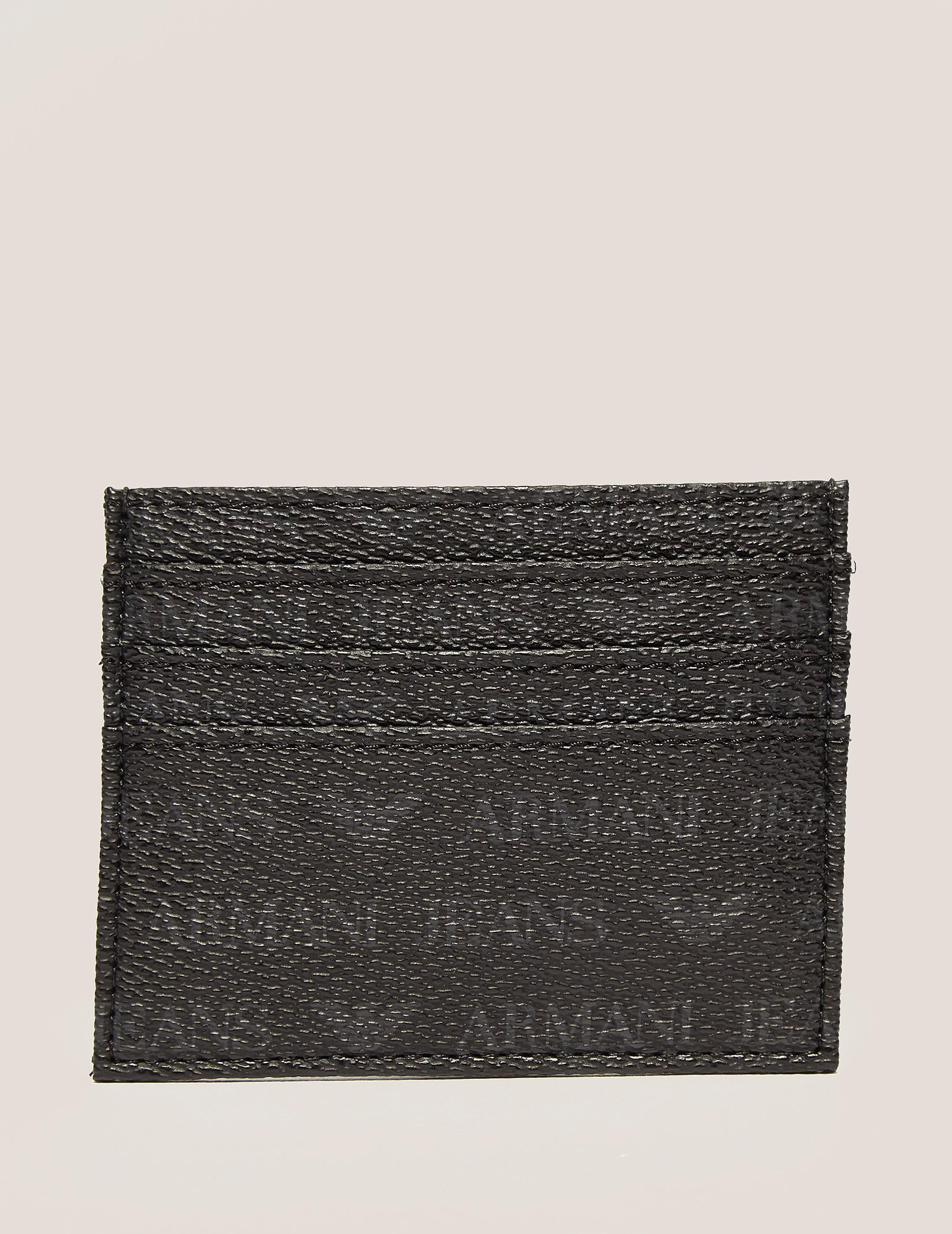 Armani Jeans Logo Print Card Holder